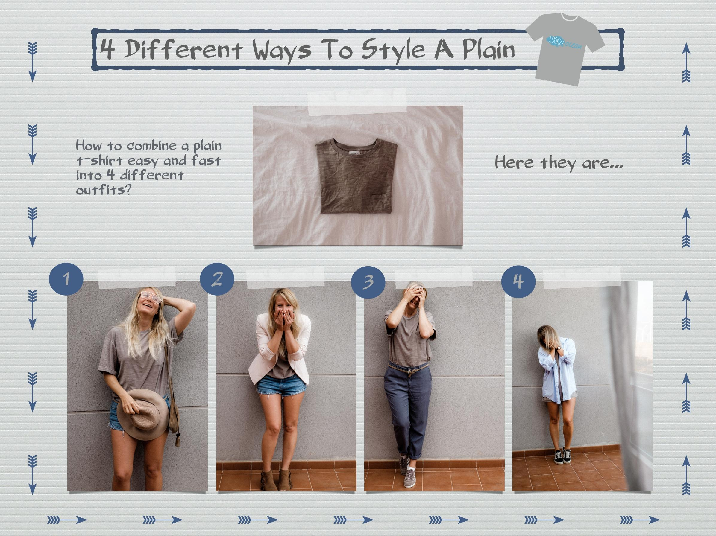 How to style... #plaintshirt #tshirt #outfit #look #differentways #strettstyle #casuallook #workuniform #ootd