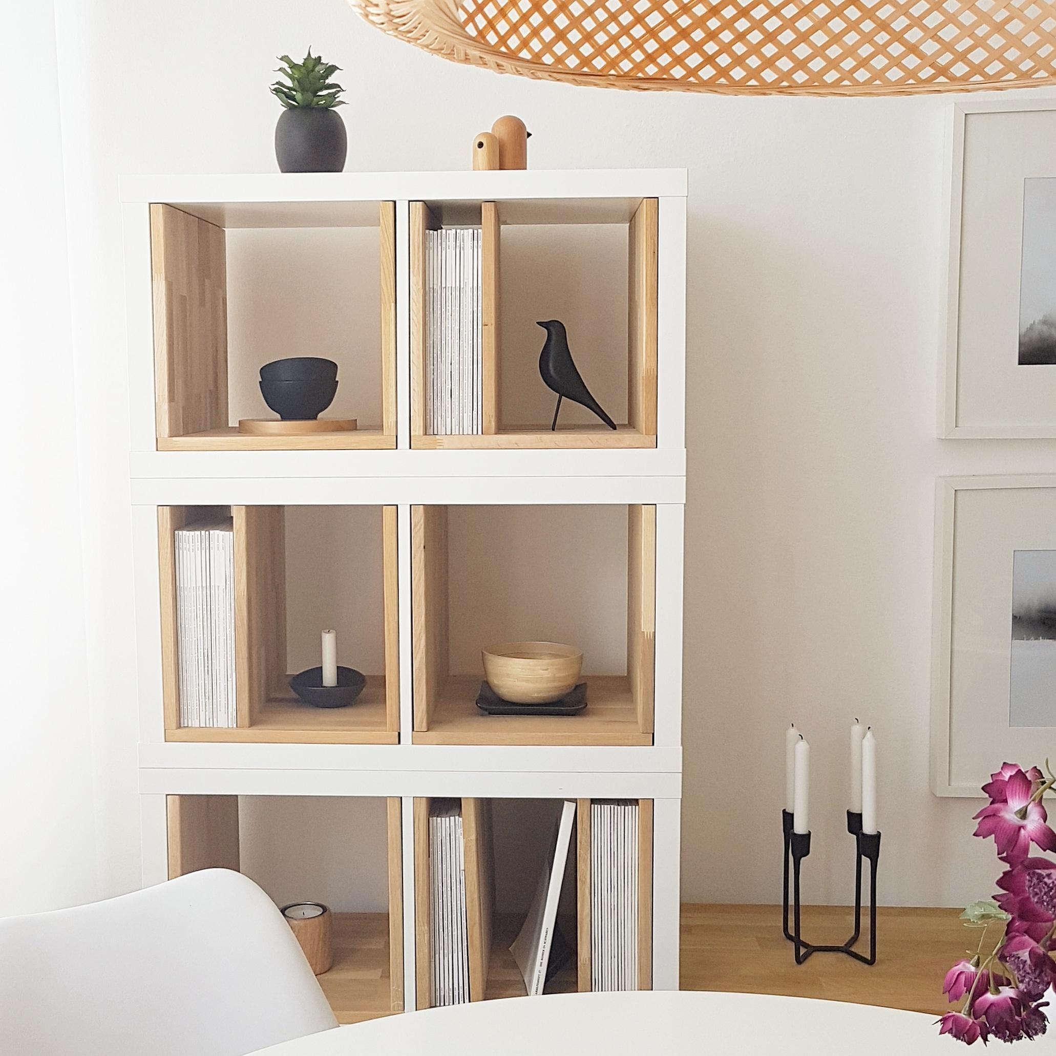 Ikeahack wohnzimmer kallax kallax elemente mit - Kallax mit schreibtisch ...