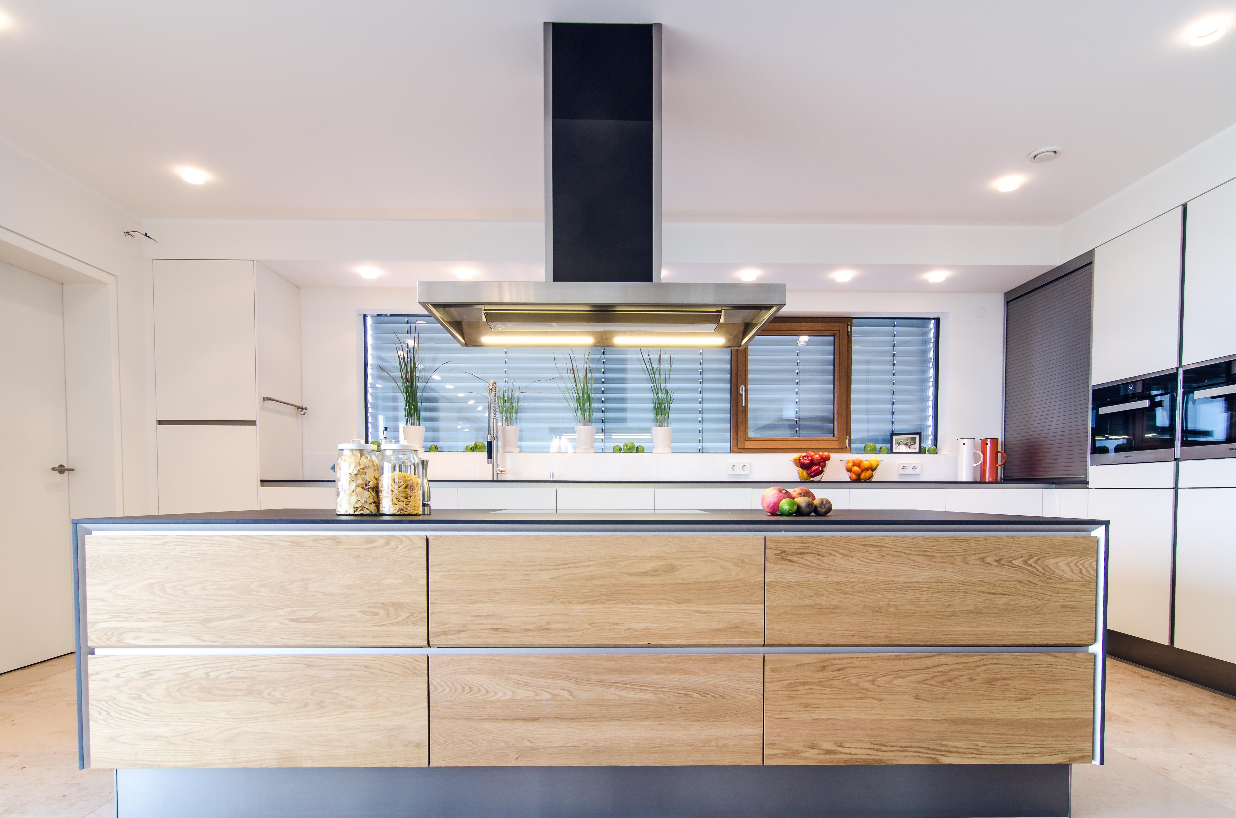 Dunstabzugshaube offene küche leistung vorhang küche unter