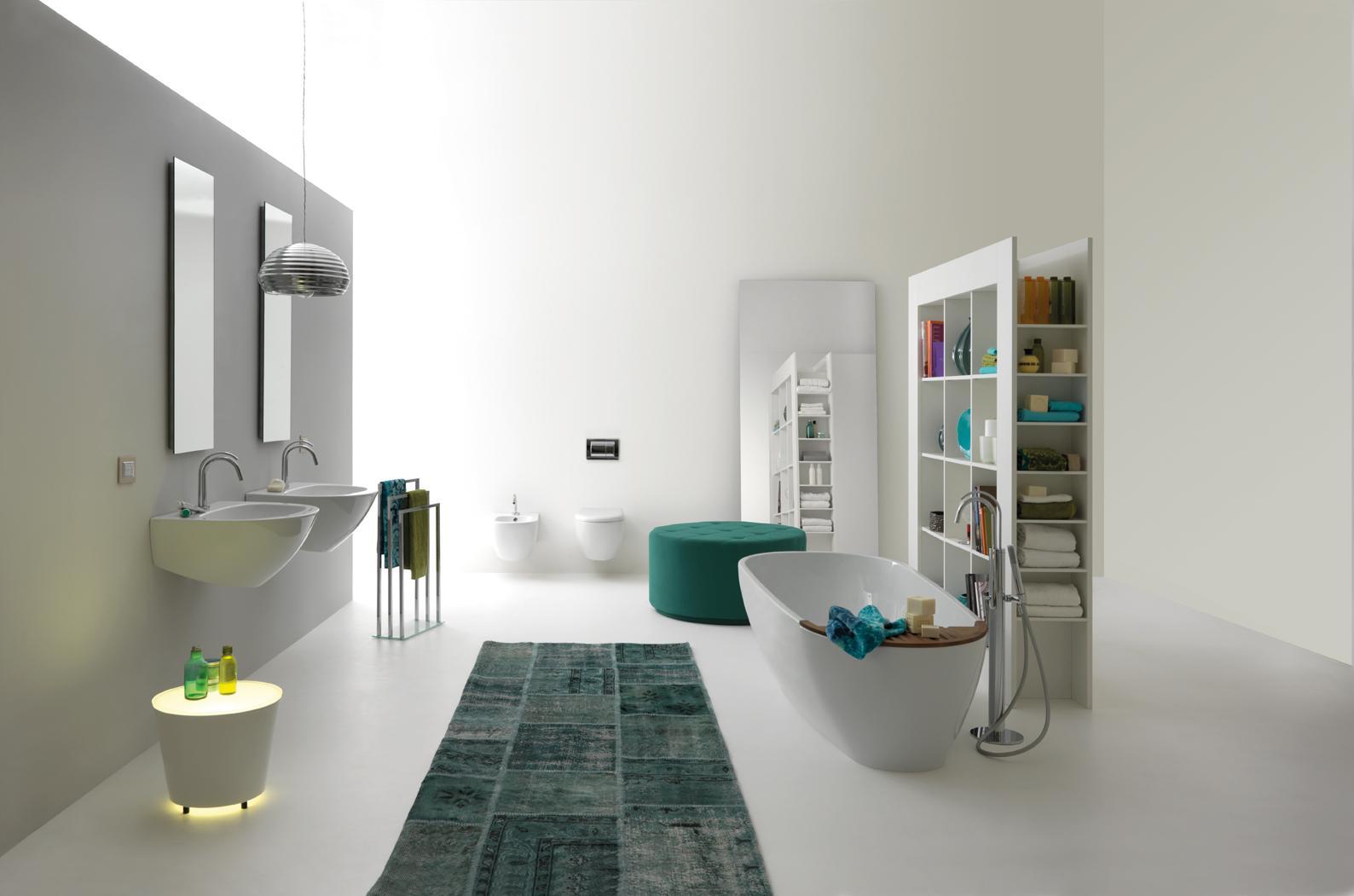KERASAN Aquatech Design Badezimmer #bad #badewanne #waschtisch  #freistehendebadewanne ©Kerasan S.r.l.