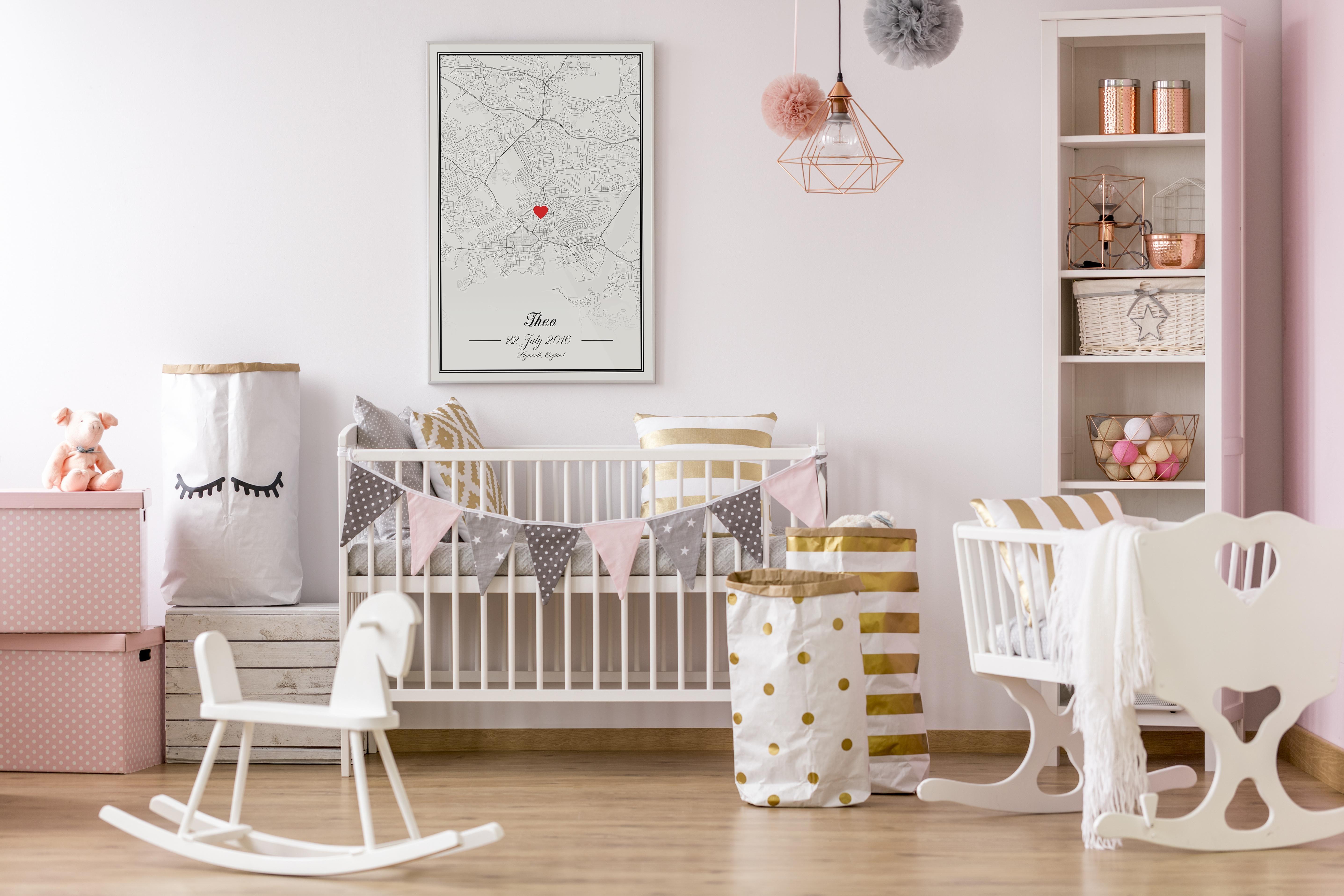 Kinderzimmer Einrichten Mapify Poster Couch