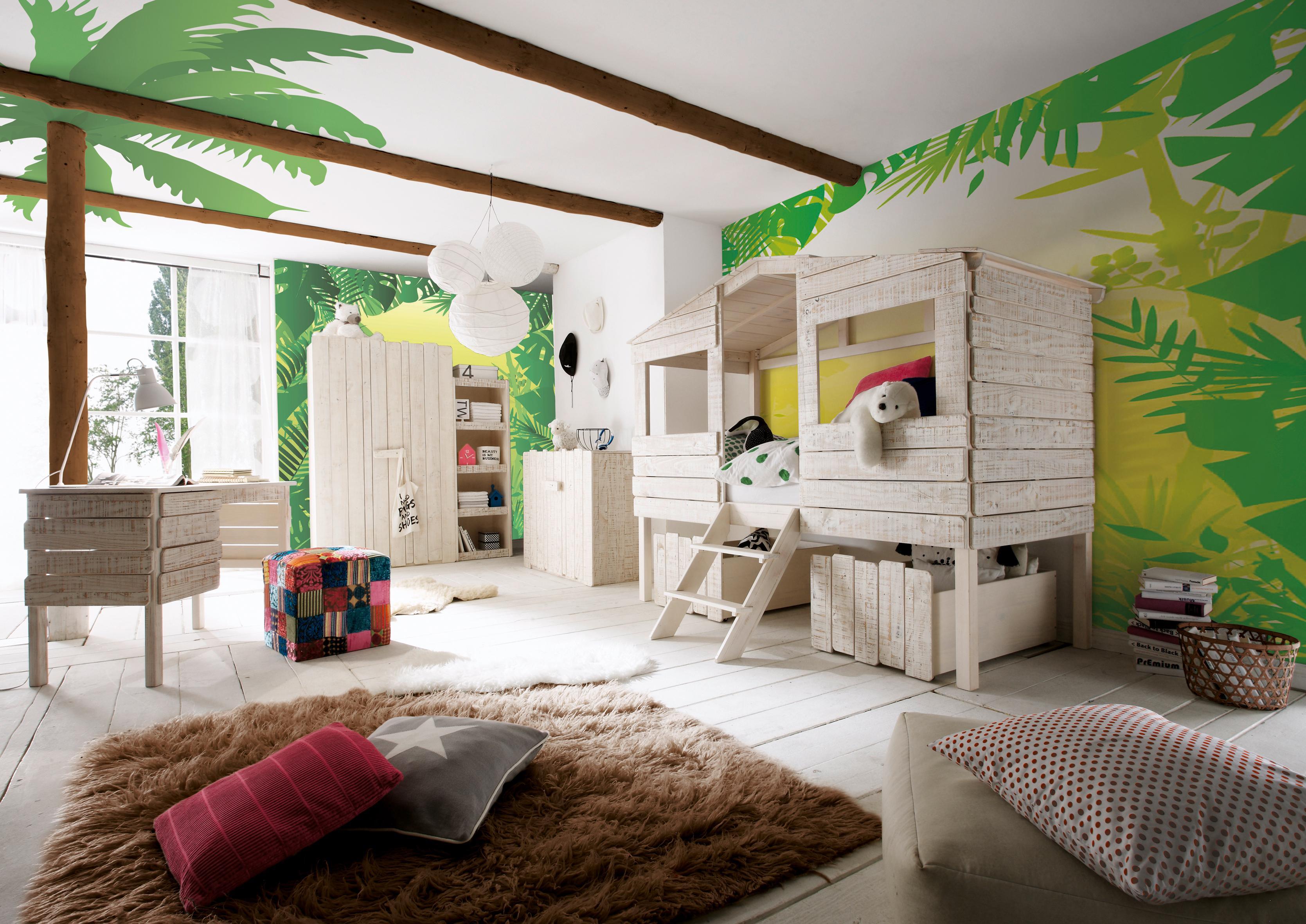 Kinderzimmer im Baumhaus-Style #baumhaus #hochbett ©...