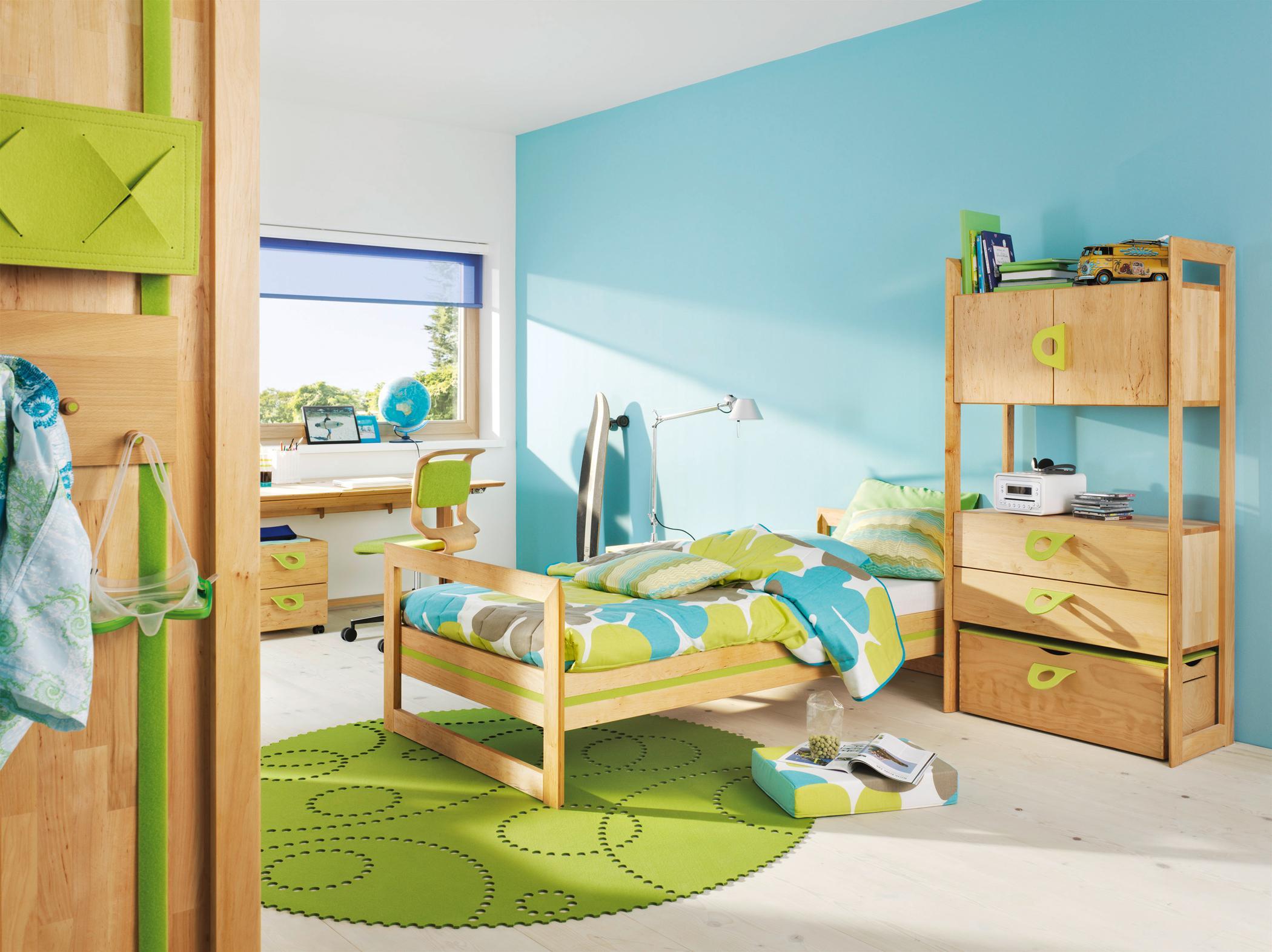 Kinderzimmer in Grün und Blau #jugendzimmer #kinderb...