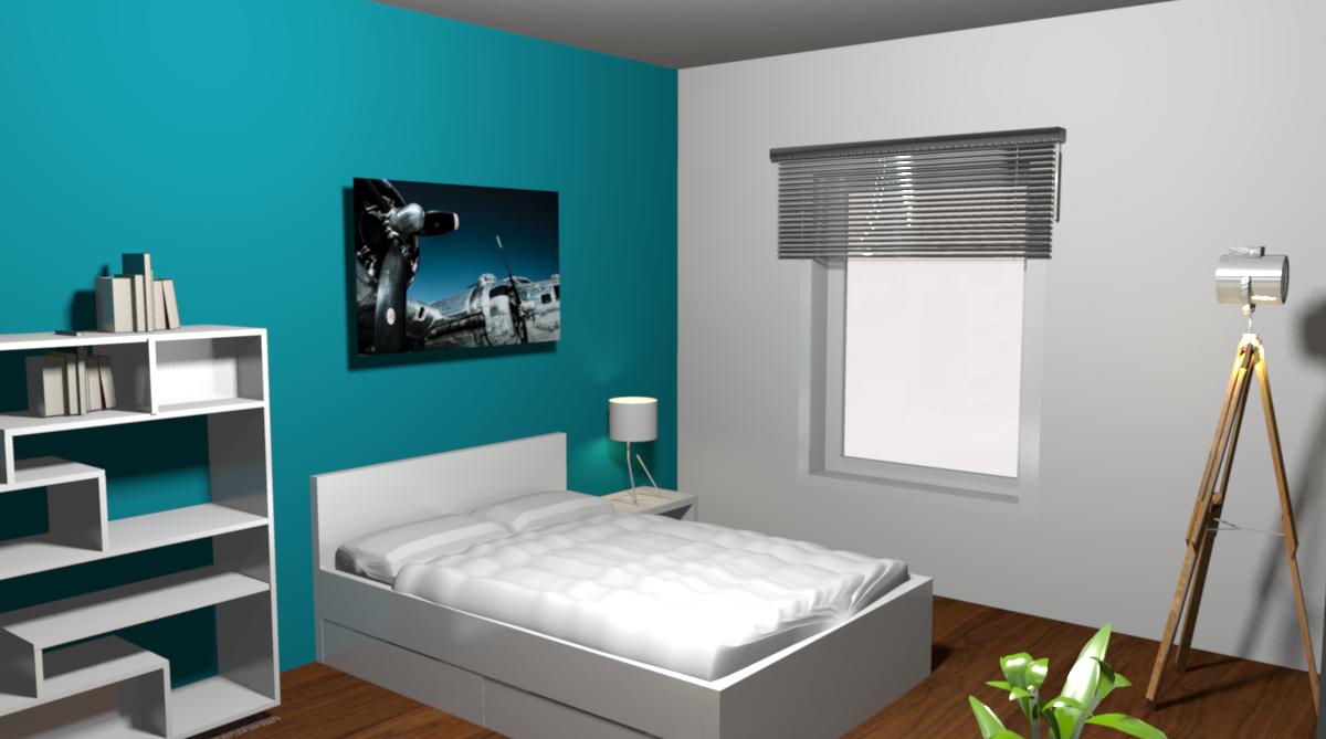 Kinderzimmer #türkisewandfarbe #raumgestaltung #stativlampe  ©www.fashionforhome.de Nice Design