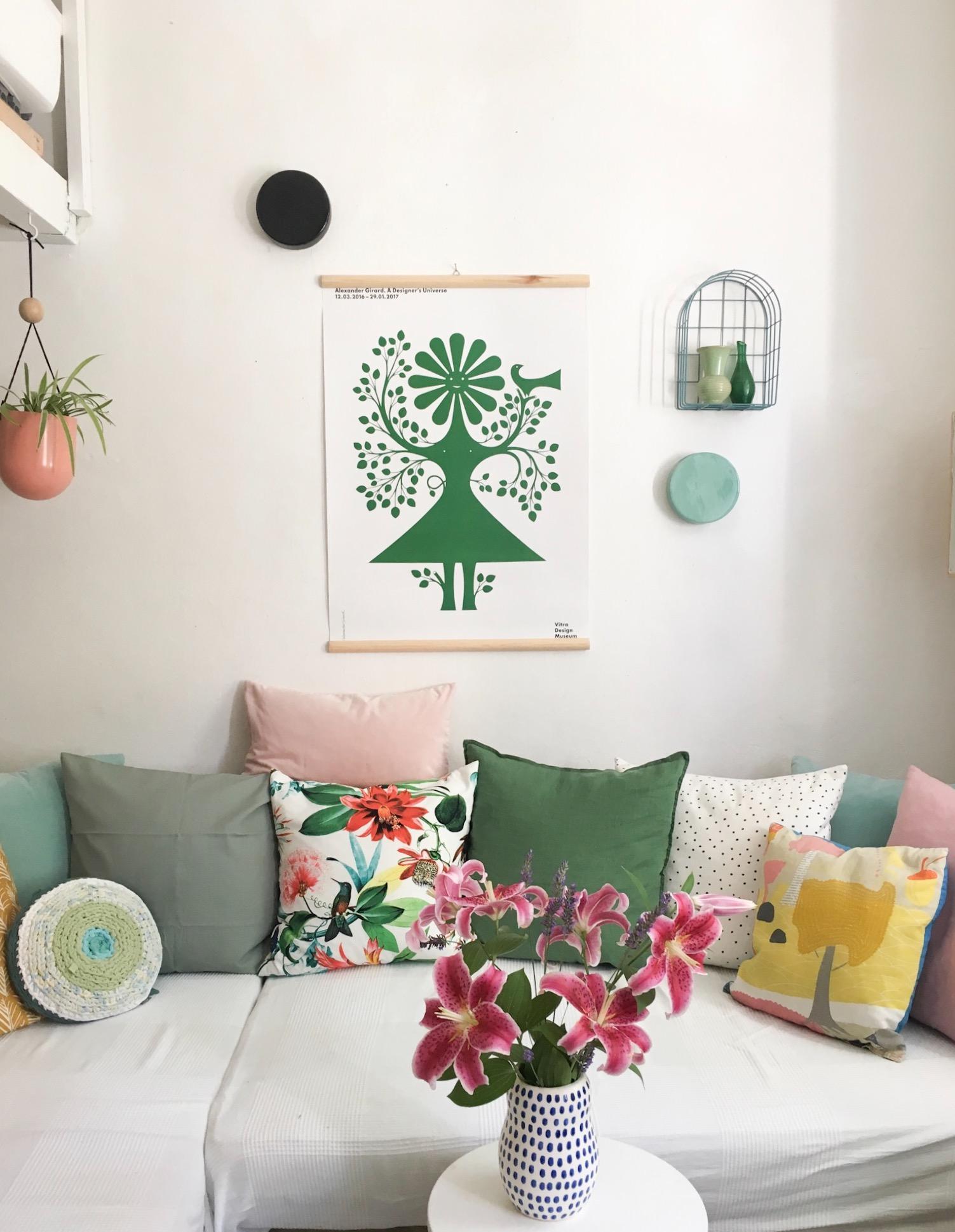 Kissenliebe Kissen Wohnzimmer Sofa Ikea Farbe Vitra Diy