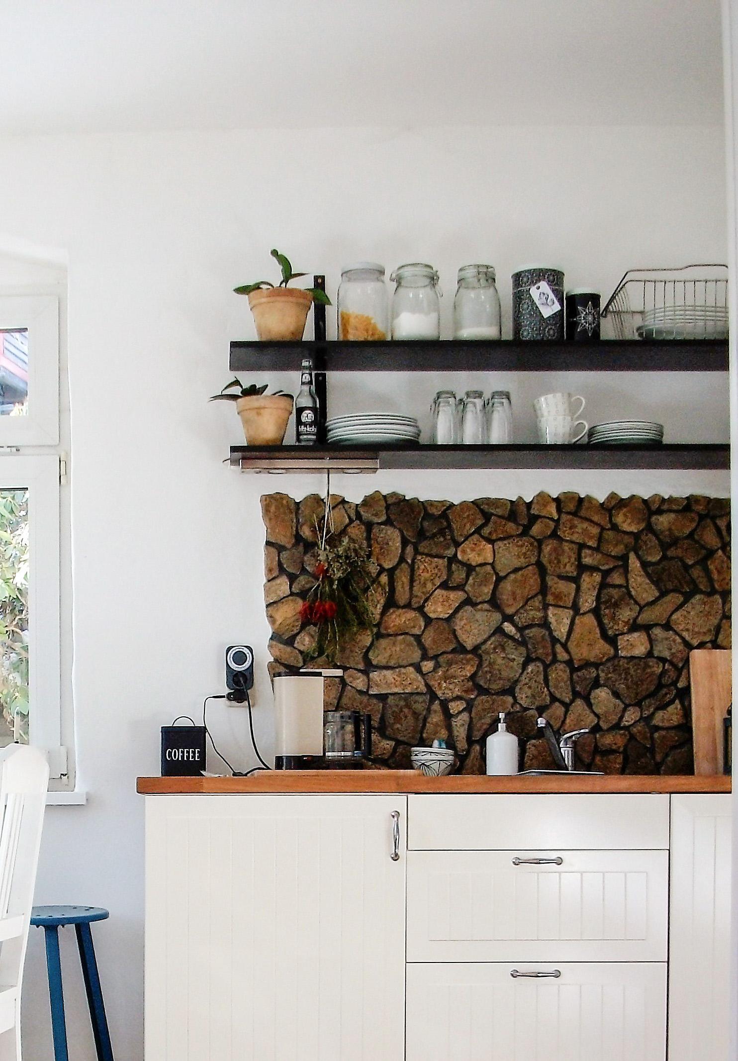 #kitchen #küche #ikea #steinwand