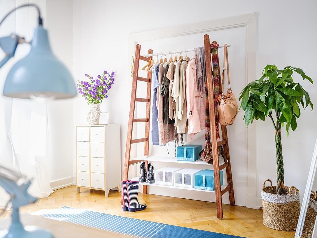 Kleiderschrank Kleiderstange Fuer Mehr Uebersicht Im Schlafzimmer  Skandinavisch Diy Homemadebyyou Garderobe Df44df03 72fe 4e74 Babf  9b08224f2f25