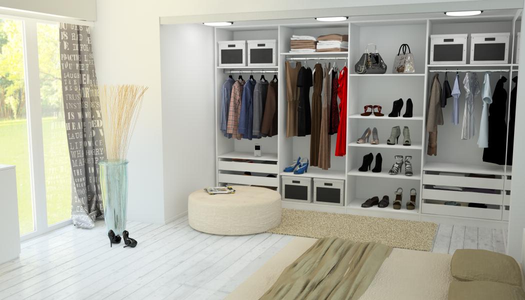 Kleiderschrank begehbar in nische kleiderschrank b for Kleiderschrank offen selber bauen