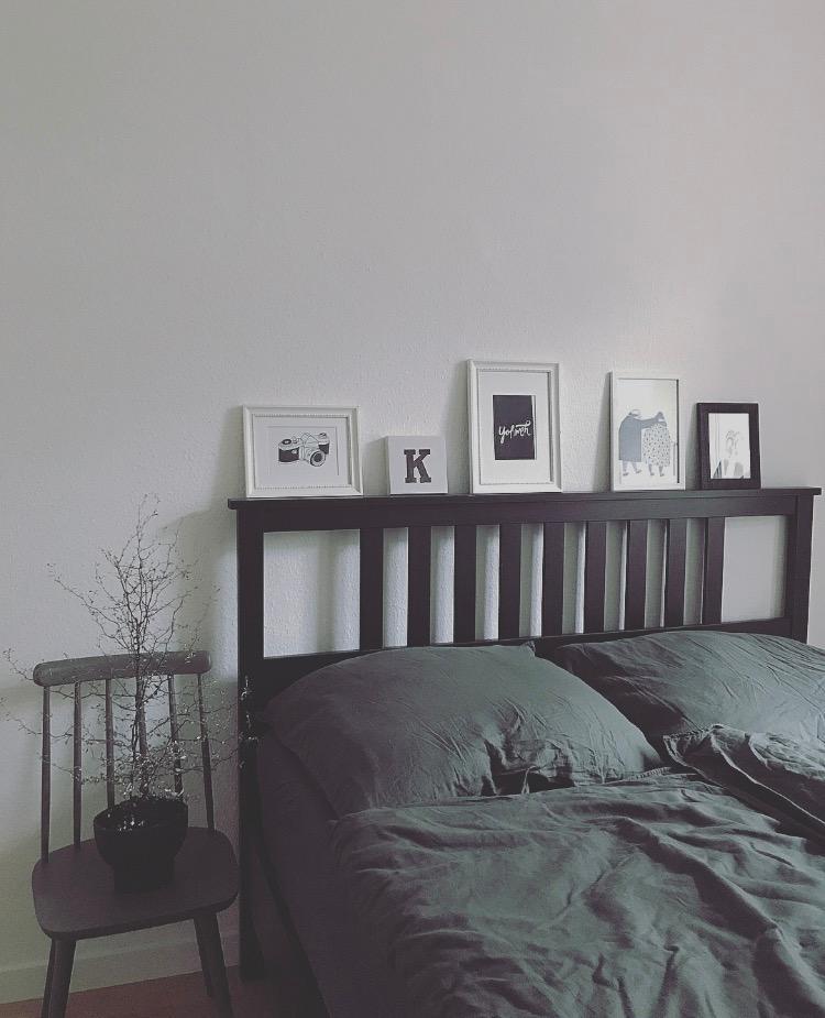Uberlegen Kleine Galerie #bett #schlafzimmer #nachttisch