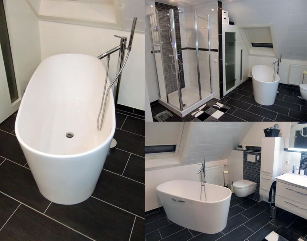 Kleines Bad mit freistehender Badewanne #badewanne #...