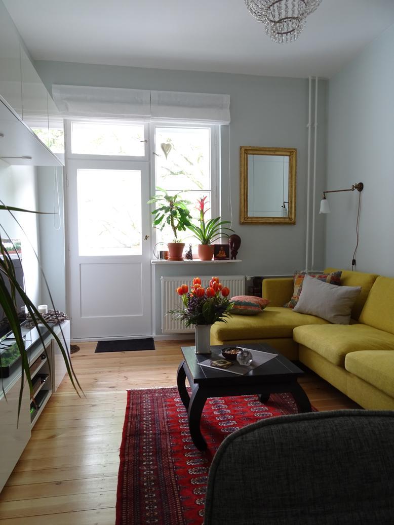 Kleines Wohnzimmer Mit Eckcouch Und Viel Stauraum Senfgelb CMareike Khn Interior Stylist