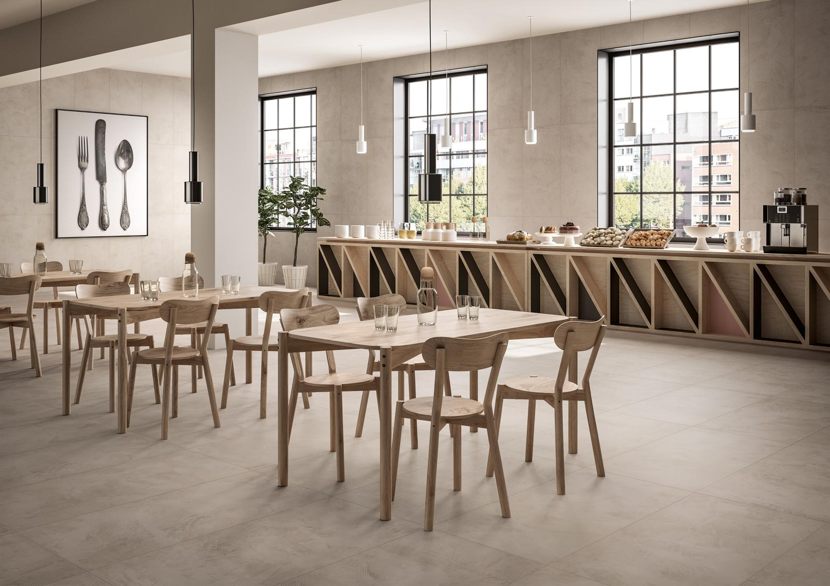 Kollektion Craft #bodenbelag #fliesen #bar #loft ©Ceramiche Refin