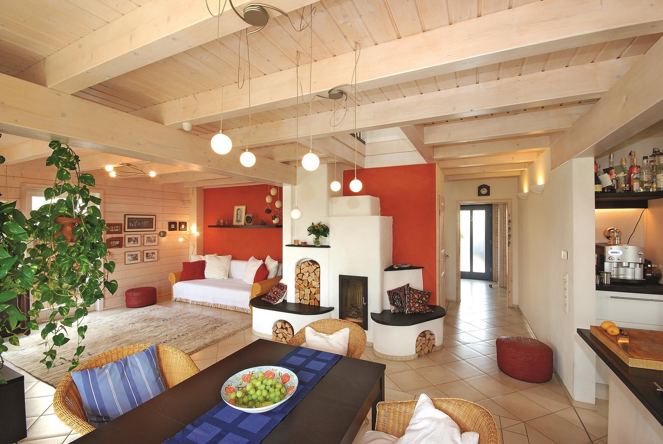 Holzbalkendecke Bilder Ideen Couch