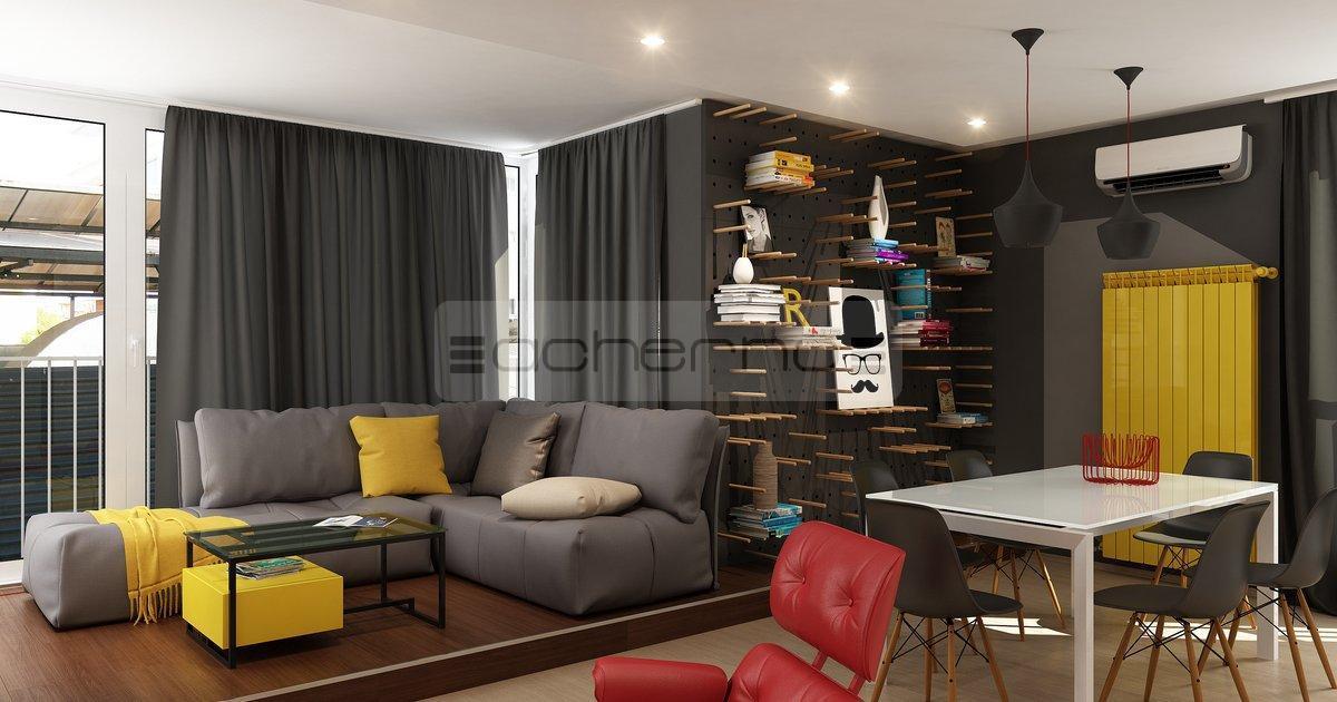 Kreativ mit gelb und rot raumdesign raumgestaltung for Raumgestaltung und innenarchitektur