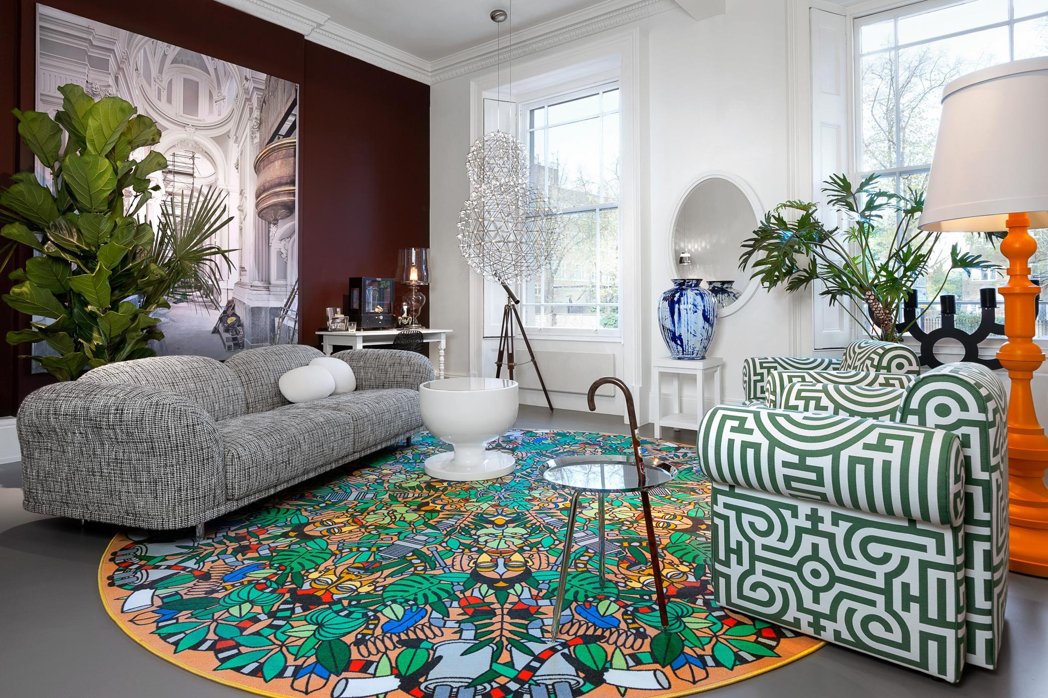 Originelle Sofas kreatives wohnzimmer mit originellen stilmix #teppic