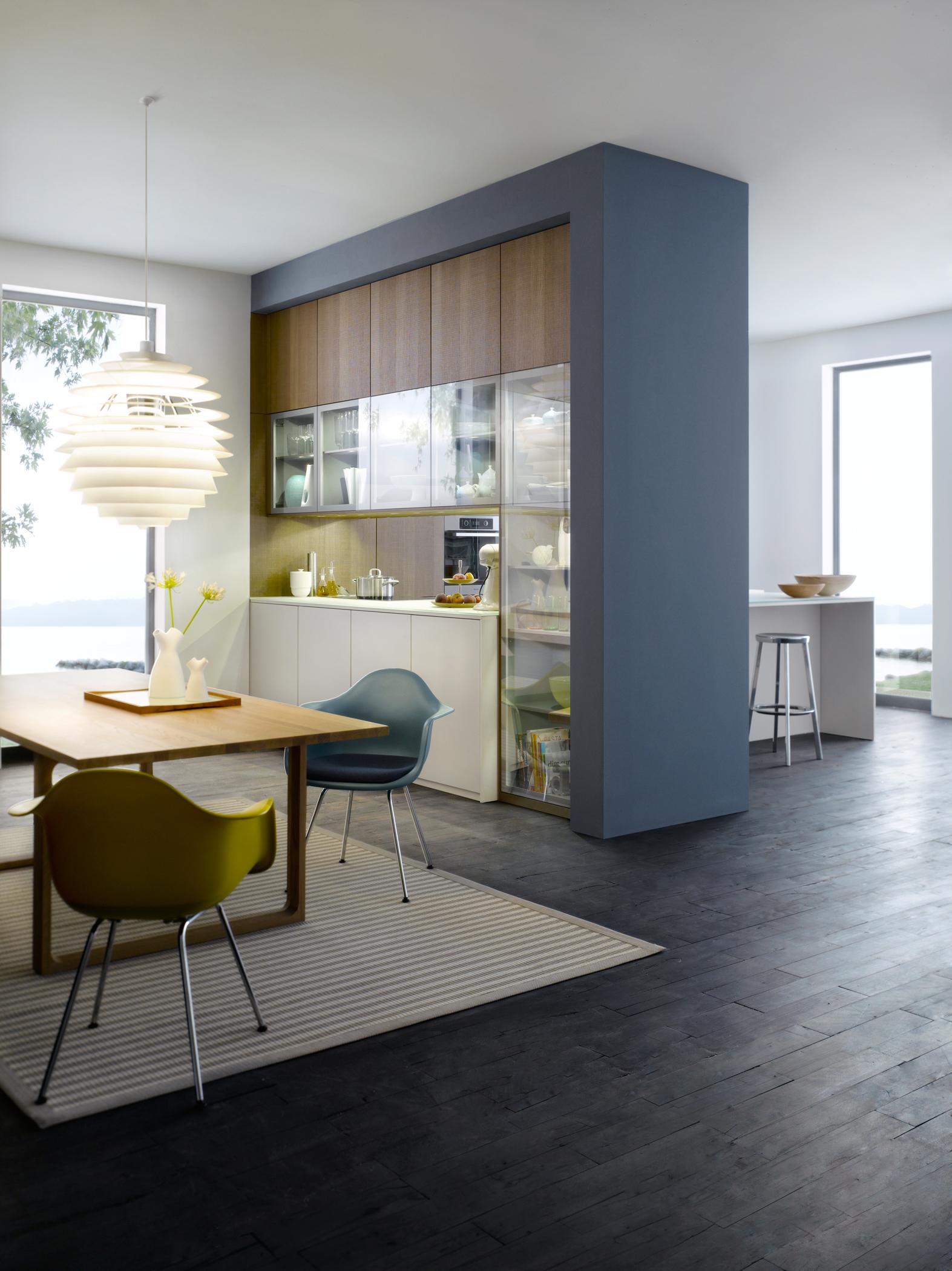 Küche Als Raumtrenner #küchendurchreiche ©Leicht Küchen