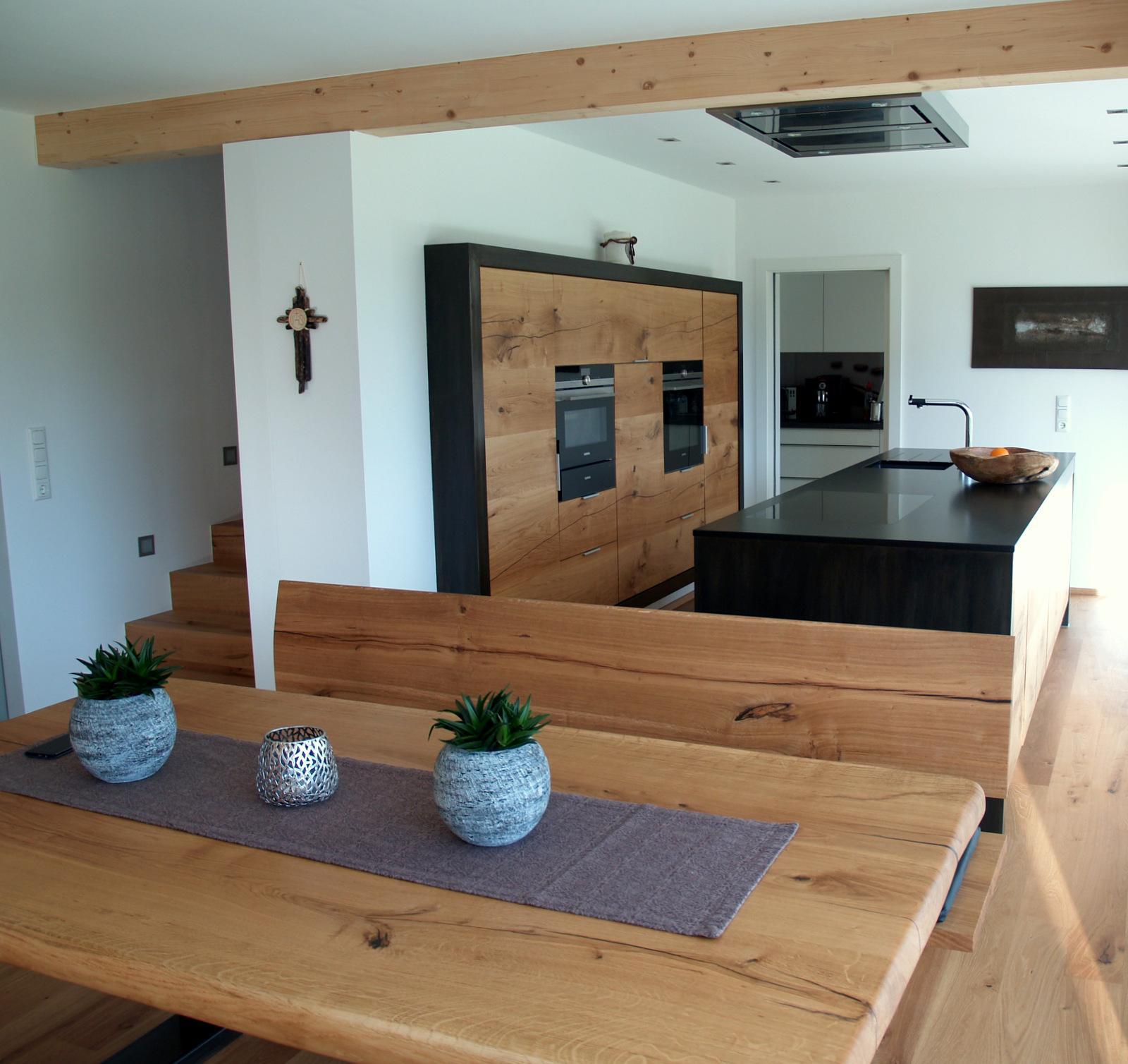 Küche mit Eßzimmer #küche #tisch #holzküche #offenes...