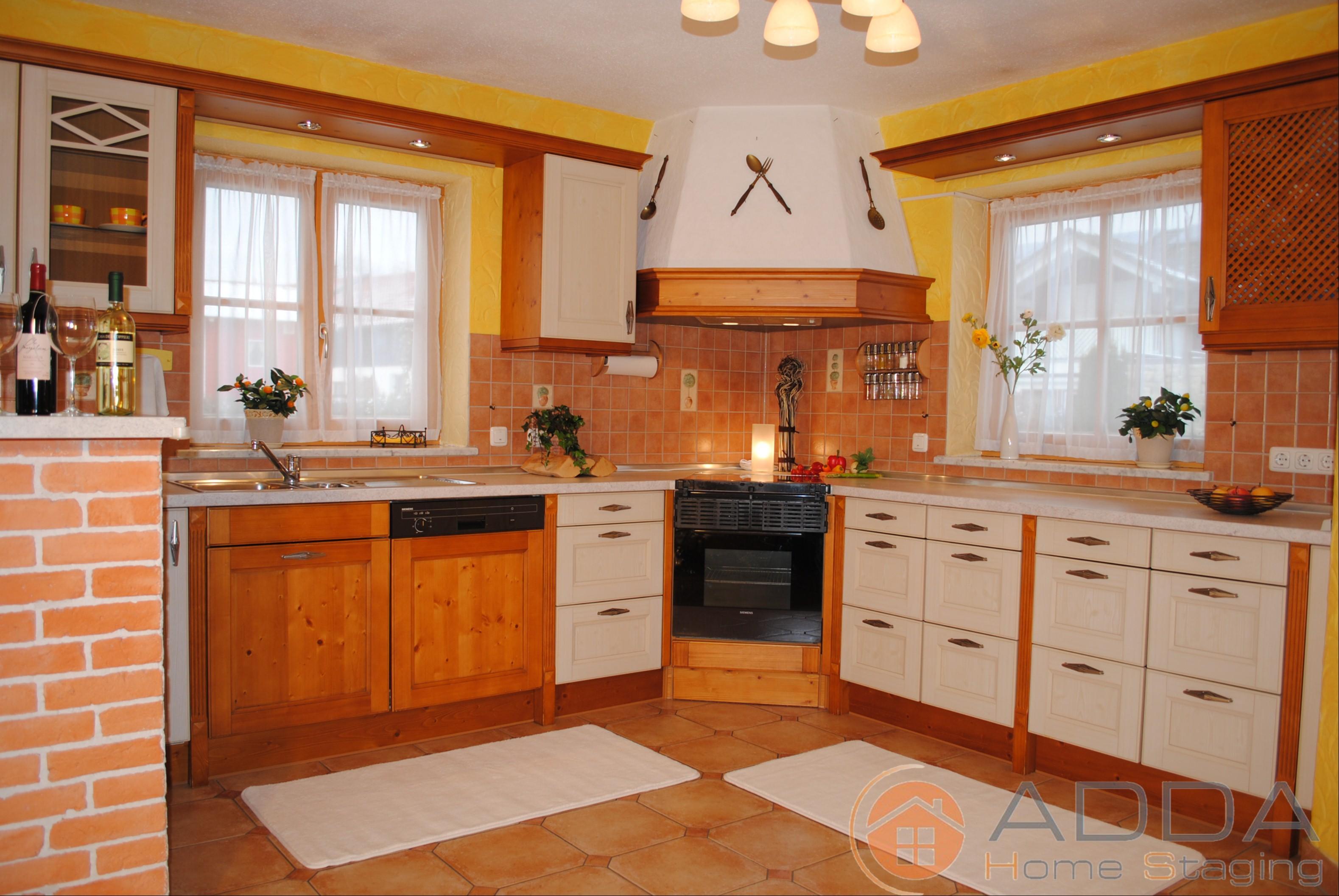 Küche Nach Dem Home Staging #dunstabzugshaube #offeneküche  #küchengestaltung #küchendeko #rustikaleküche #