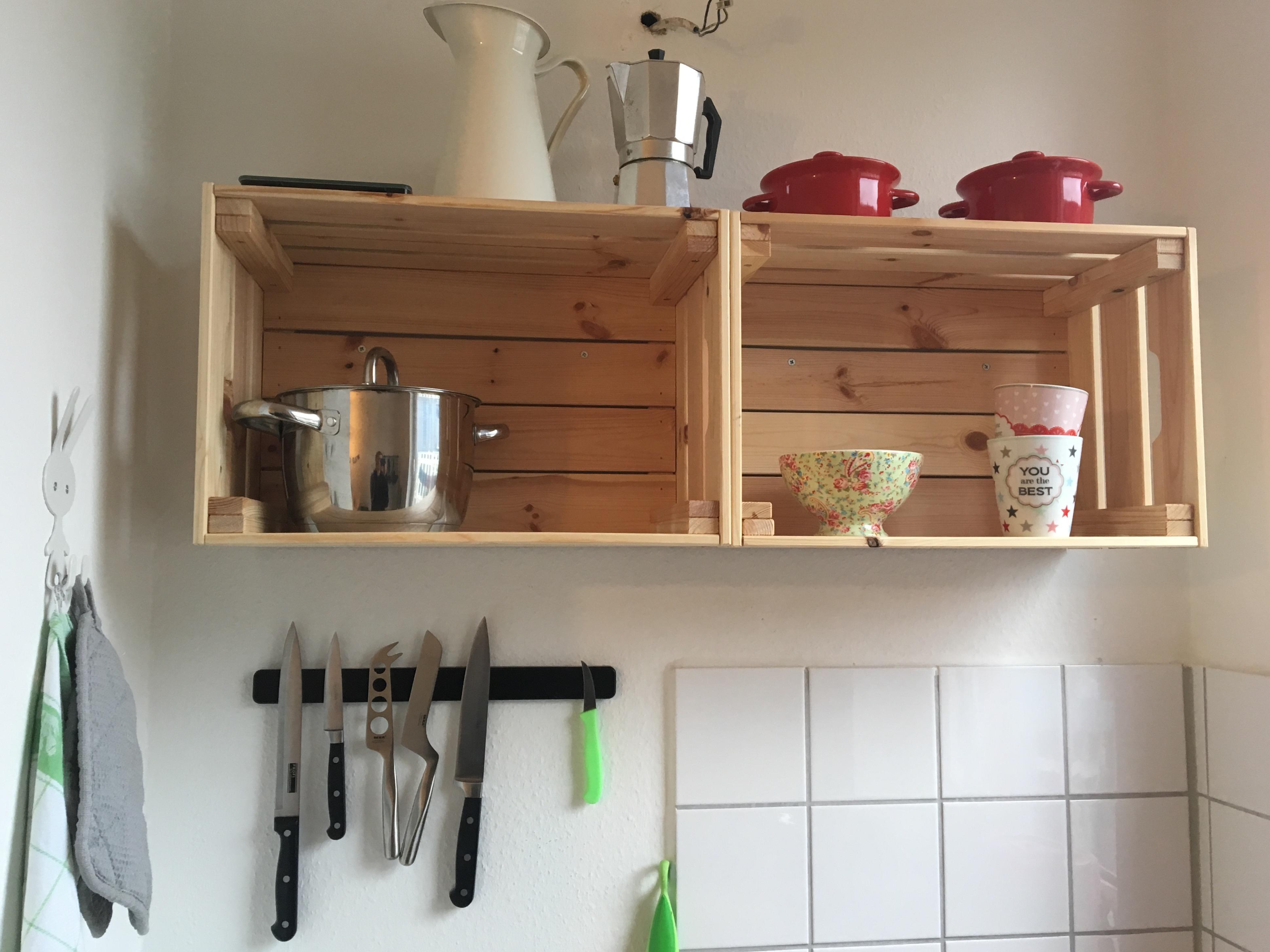 Kuchenregal Aus Alten Obstkisten Diy Zufauleinreg