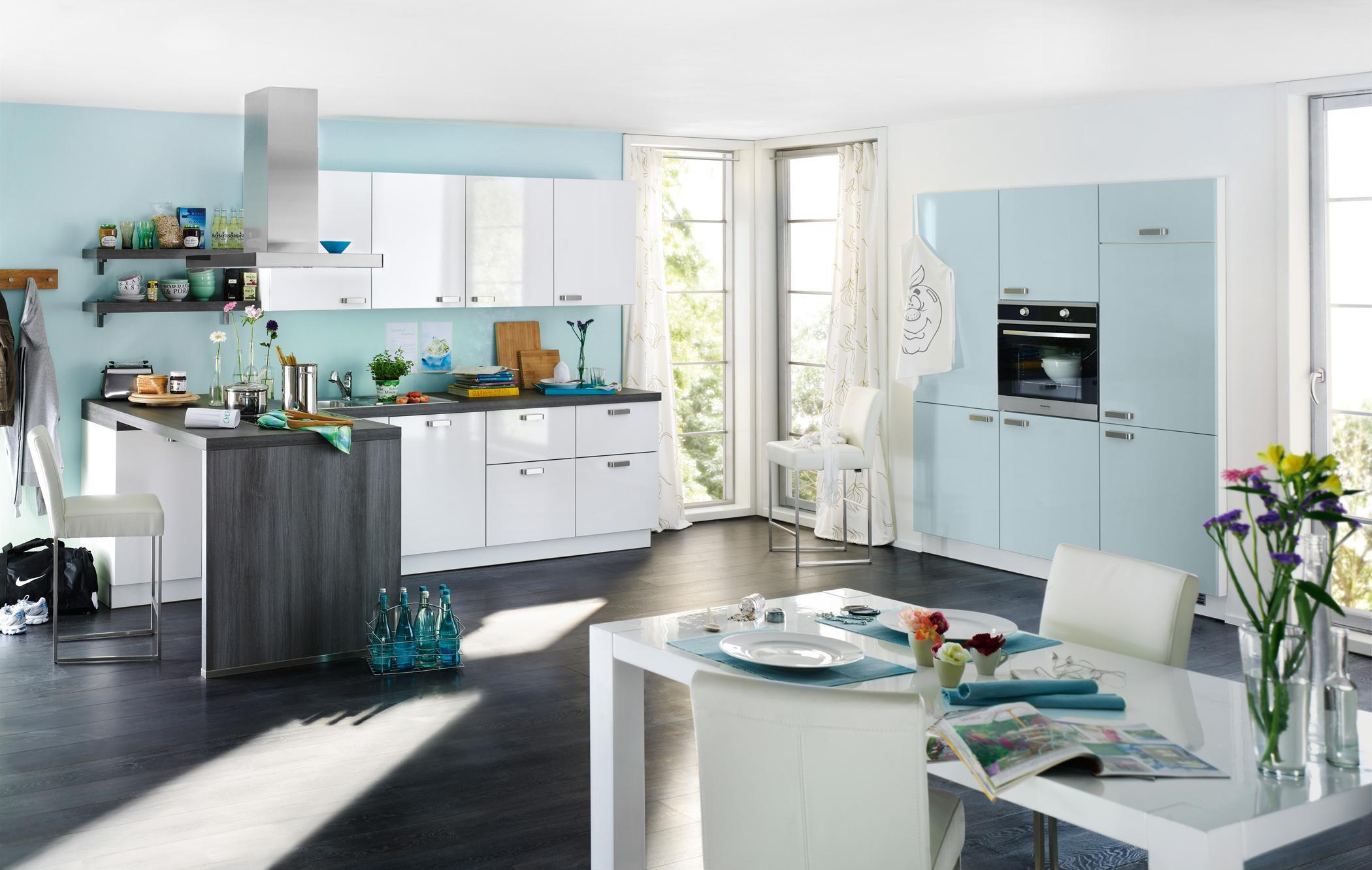 weißblaue küche • bilder ideen • couchstyle