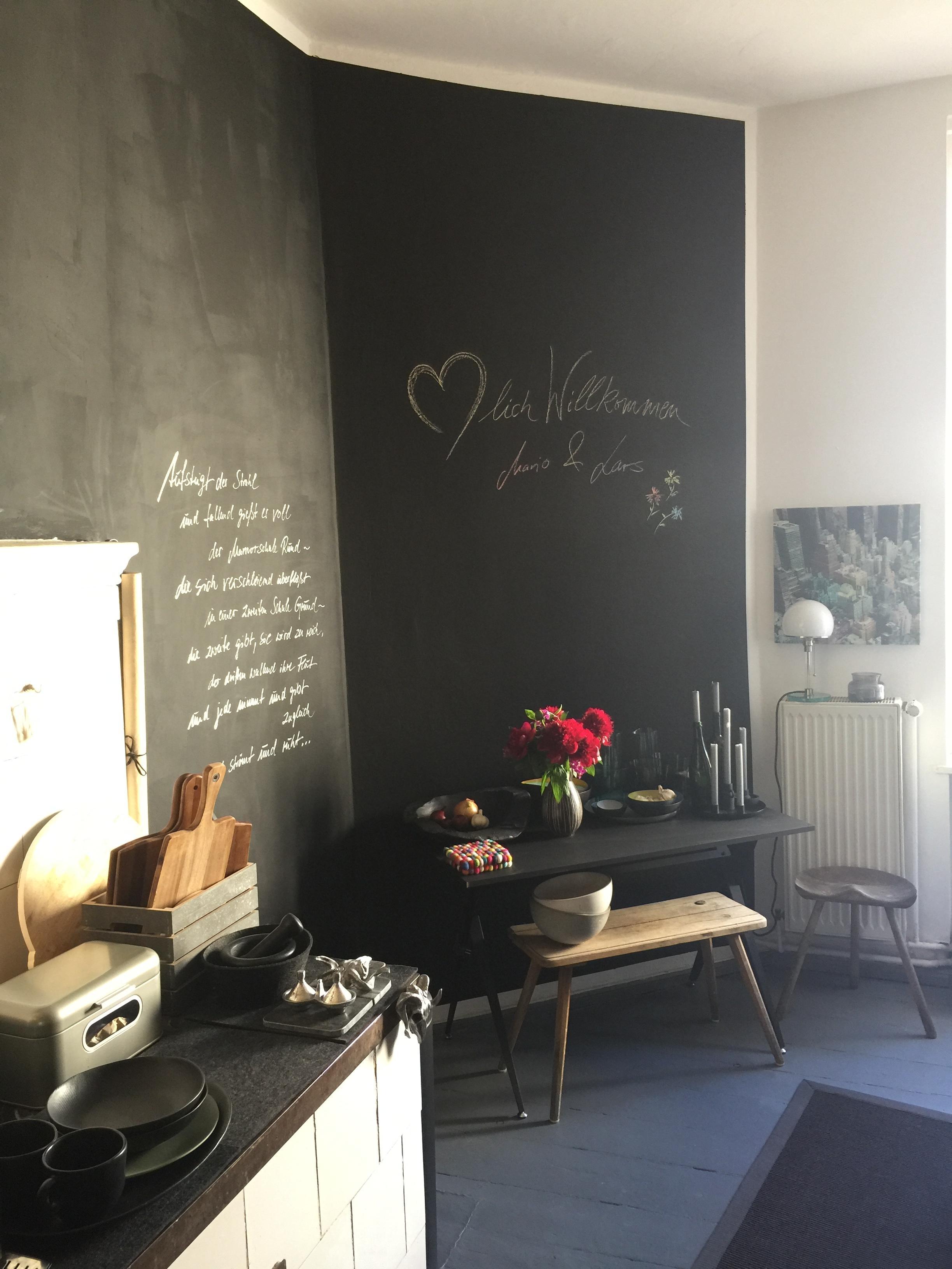 Küche#Tafelfarbe#Lieblingsgedicht • COUCH