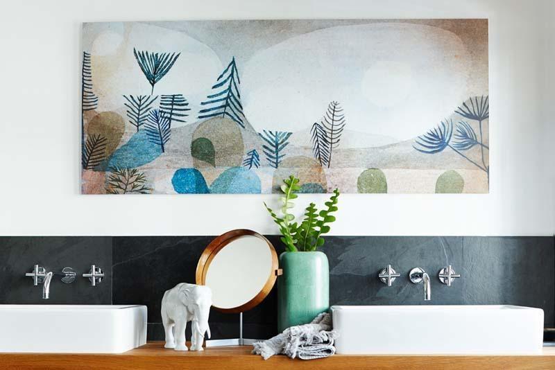 #Kunst Im #Badezimmer? Natürlich: Als Edler Und Wasserbeständiger Druck Auf  Echtglas/