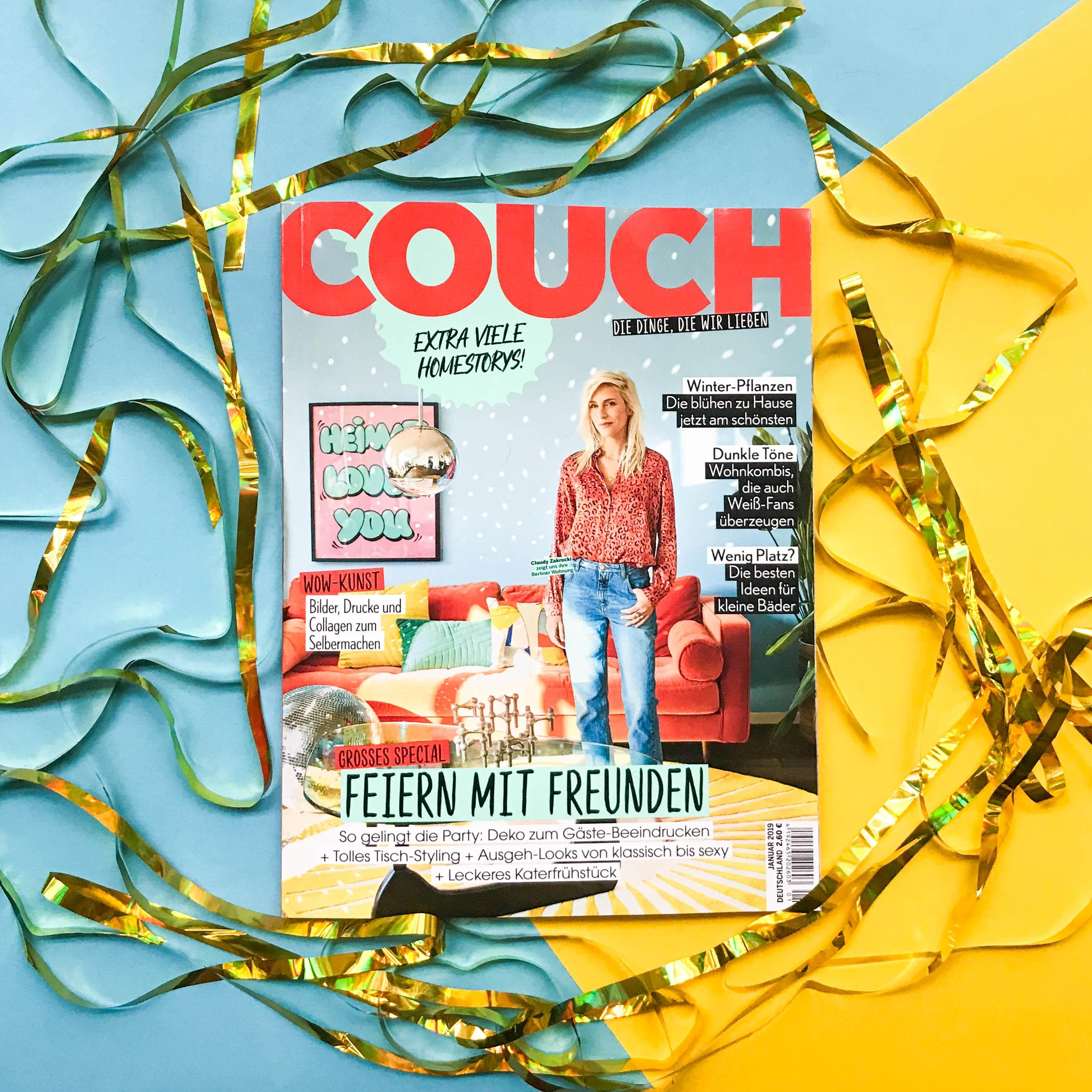 Lasst uns feiern! 🎉 Ab heute gibt's die neue COUCH mit Party-Special am Kiosk! #COUCHAbo #COUCHMagazin