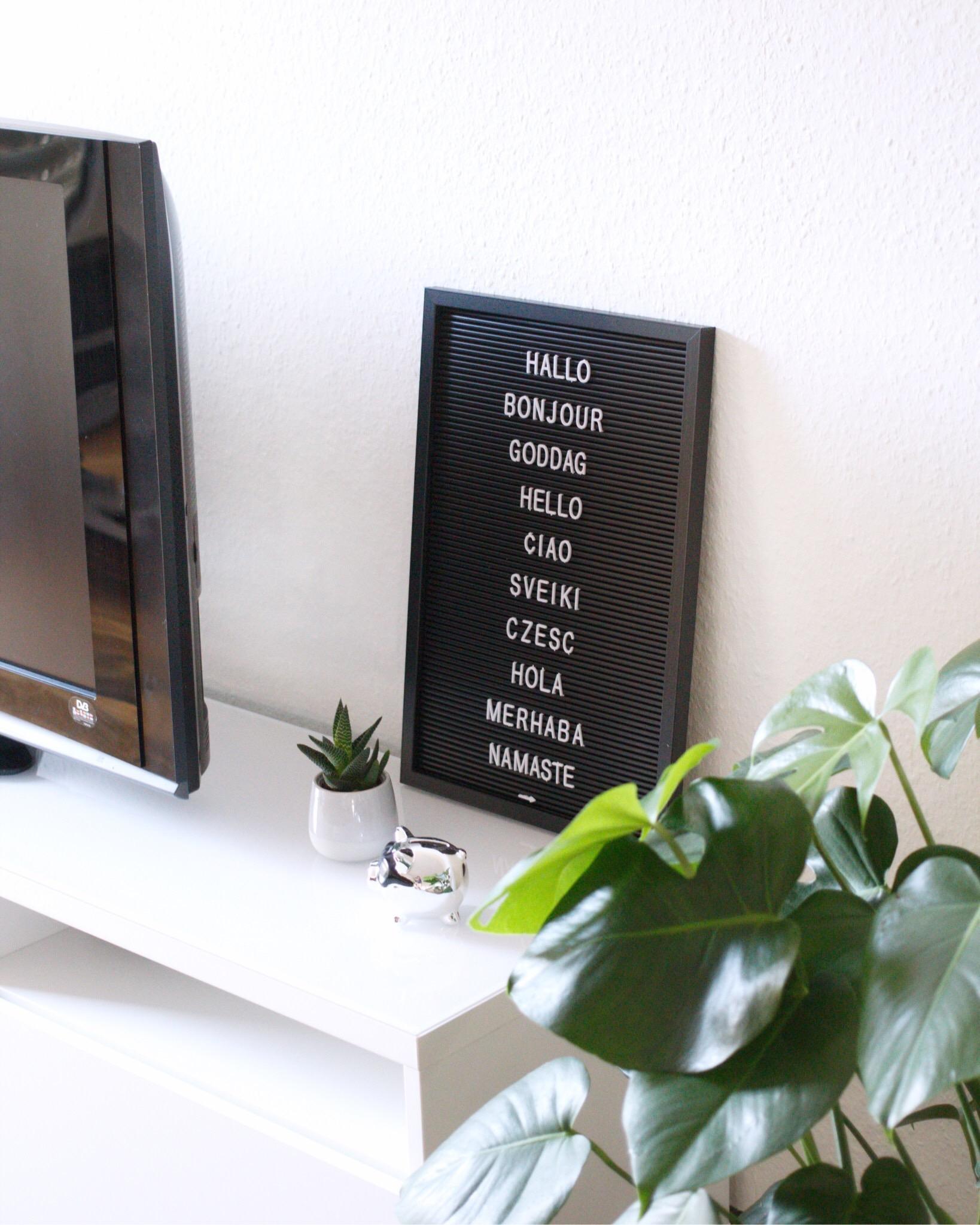 #letterboard Im #wohnzimmer #alphabetboard #deko #sideboard #tvbank