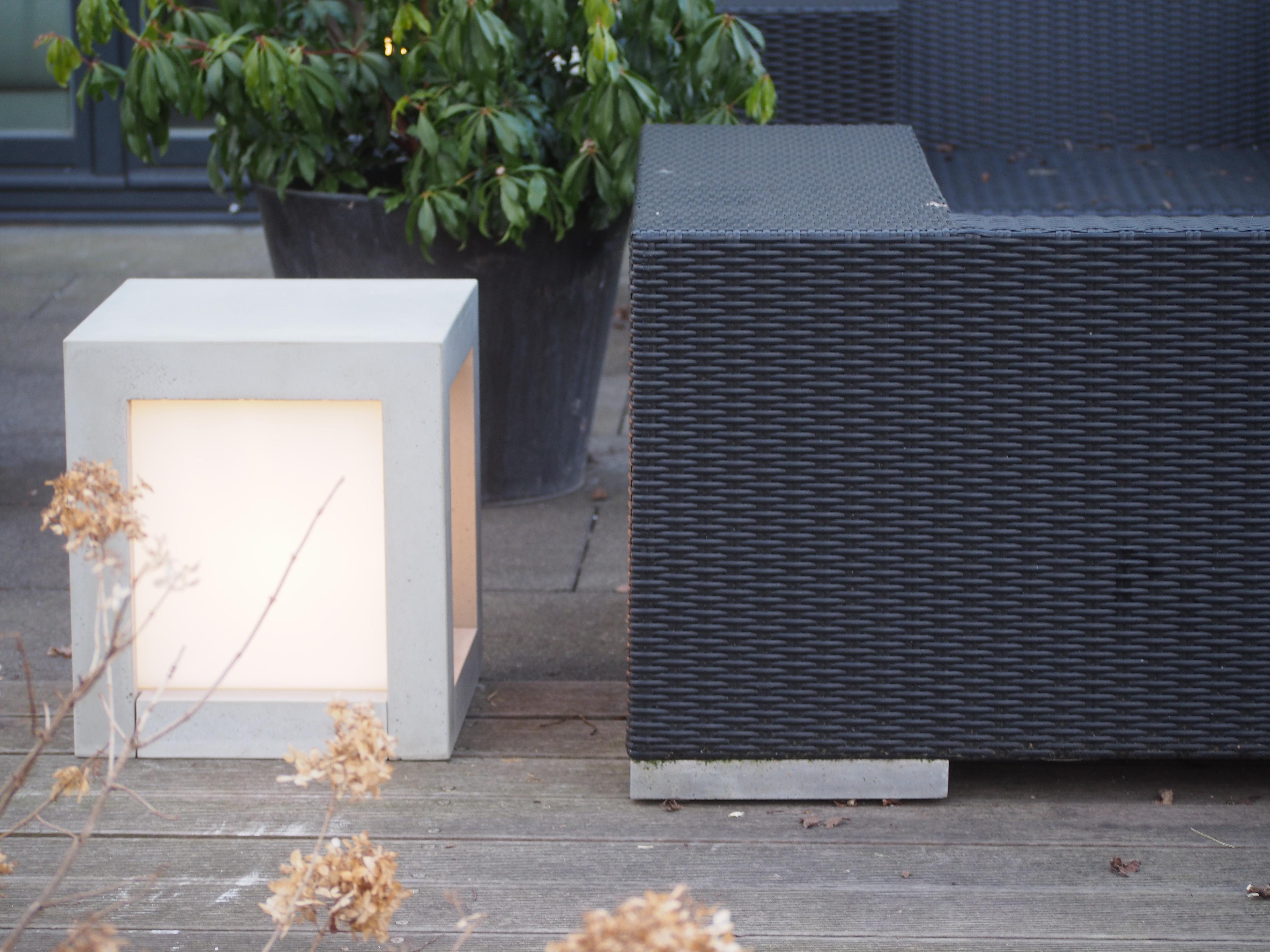 Elegant Hochwertig Lichtwürfel Für Innen Und Außen #hocker #betonmöbel ©Foto  Betoniu GmbH