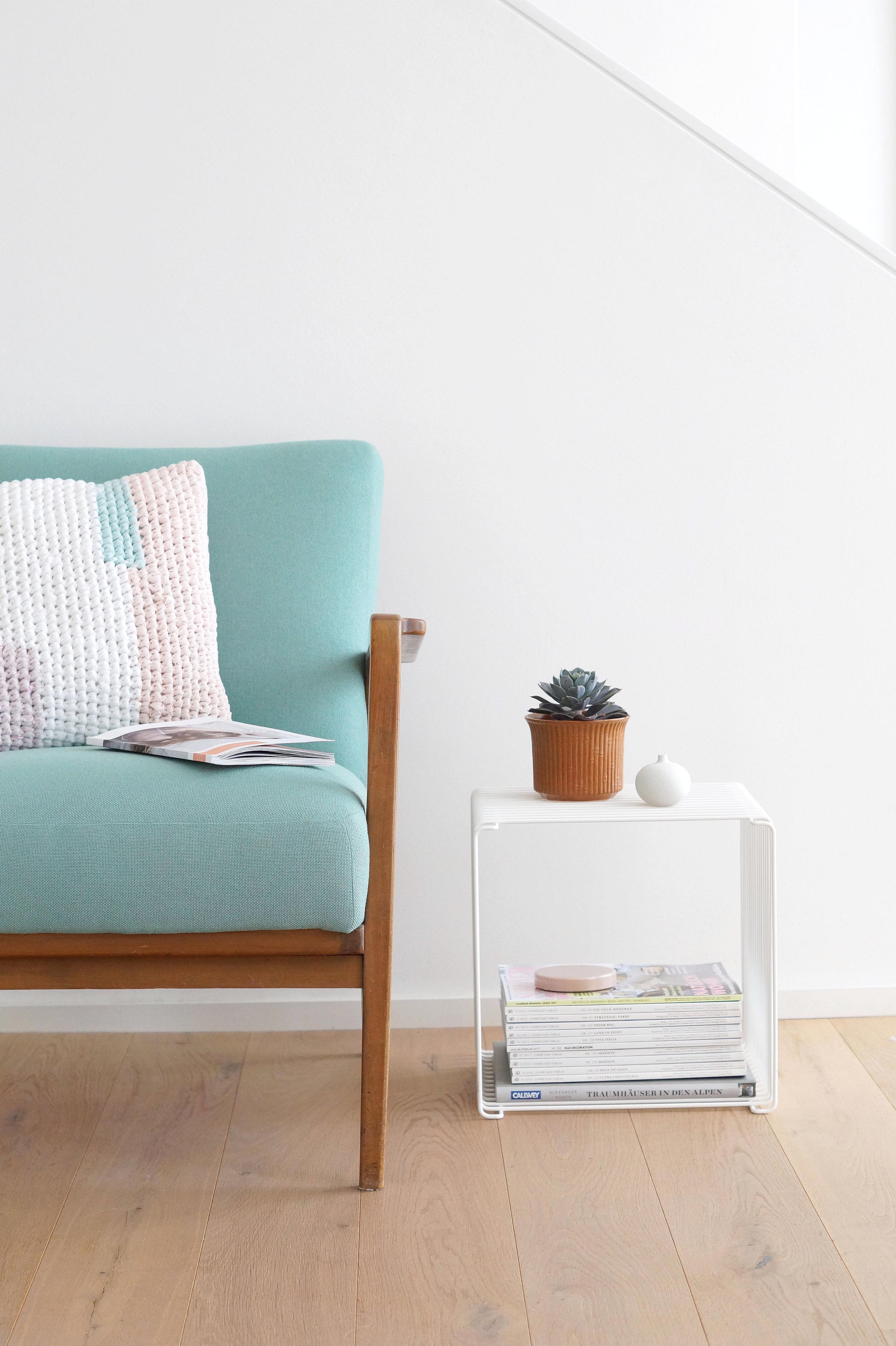 Vintage Wandgestaltung Bilder Ideen Couch