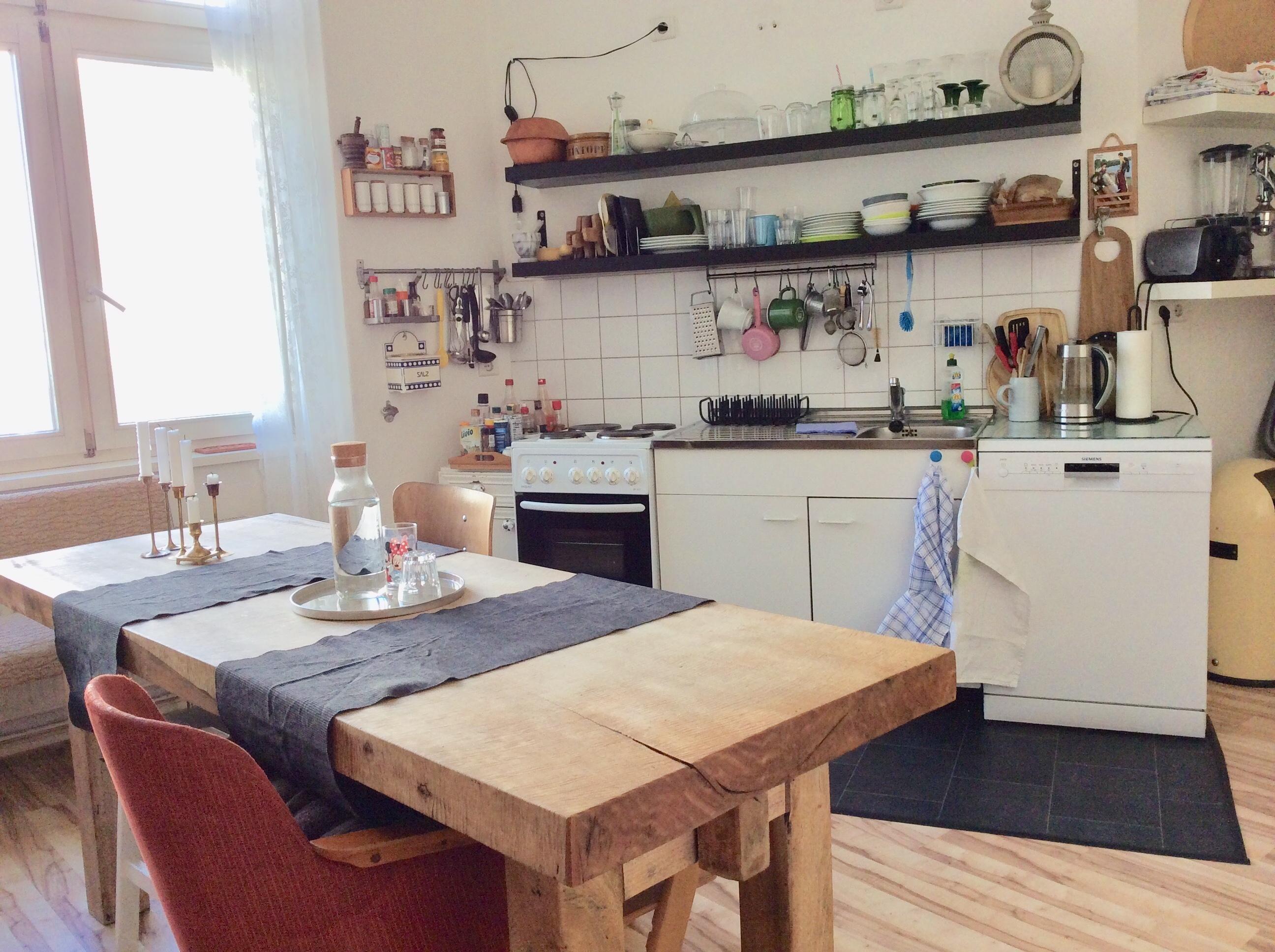 living #küche #Holztisch #Deko • COUCH