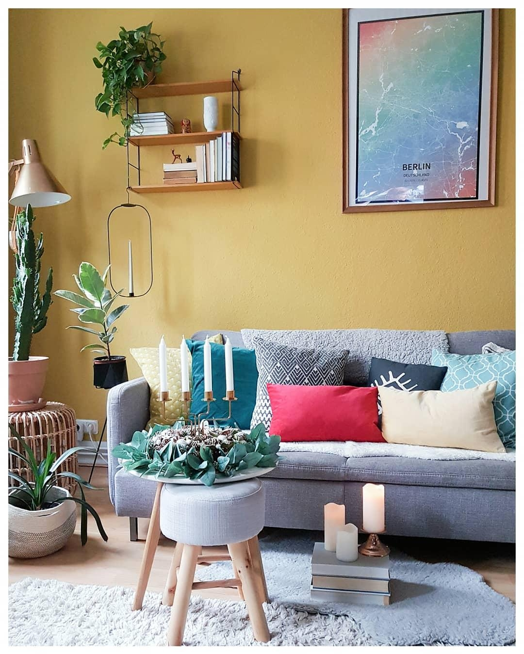 #livingroom #couch #colourful