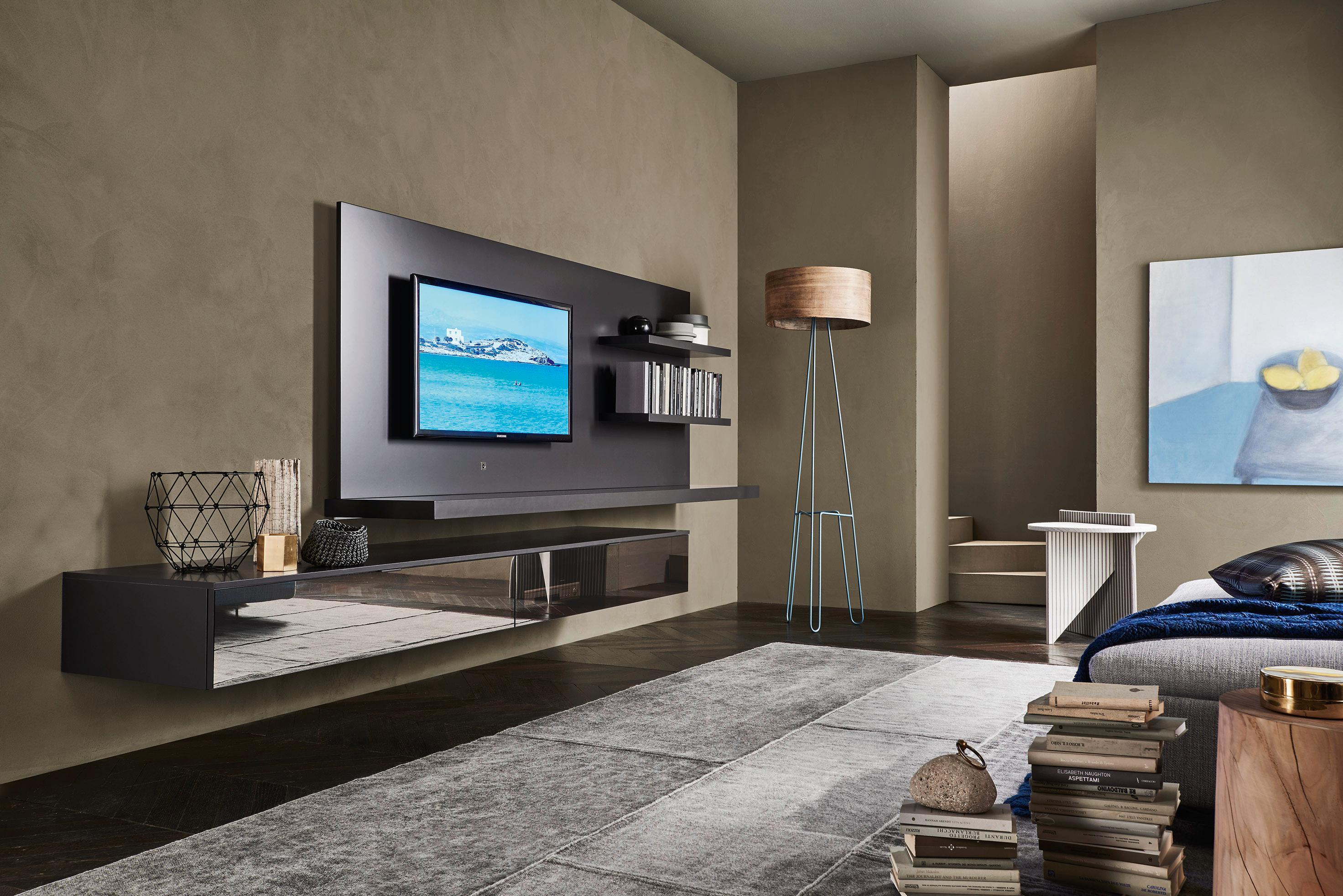 Livitalia Design Wohnwand C54 #wohnzimmer #tvmöbel #wohnzimmerwand #wohnwand  ©Livarea.de