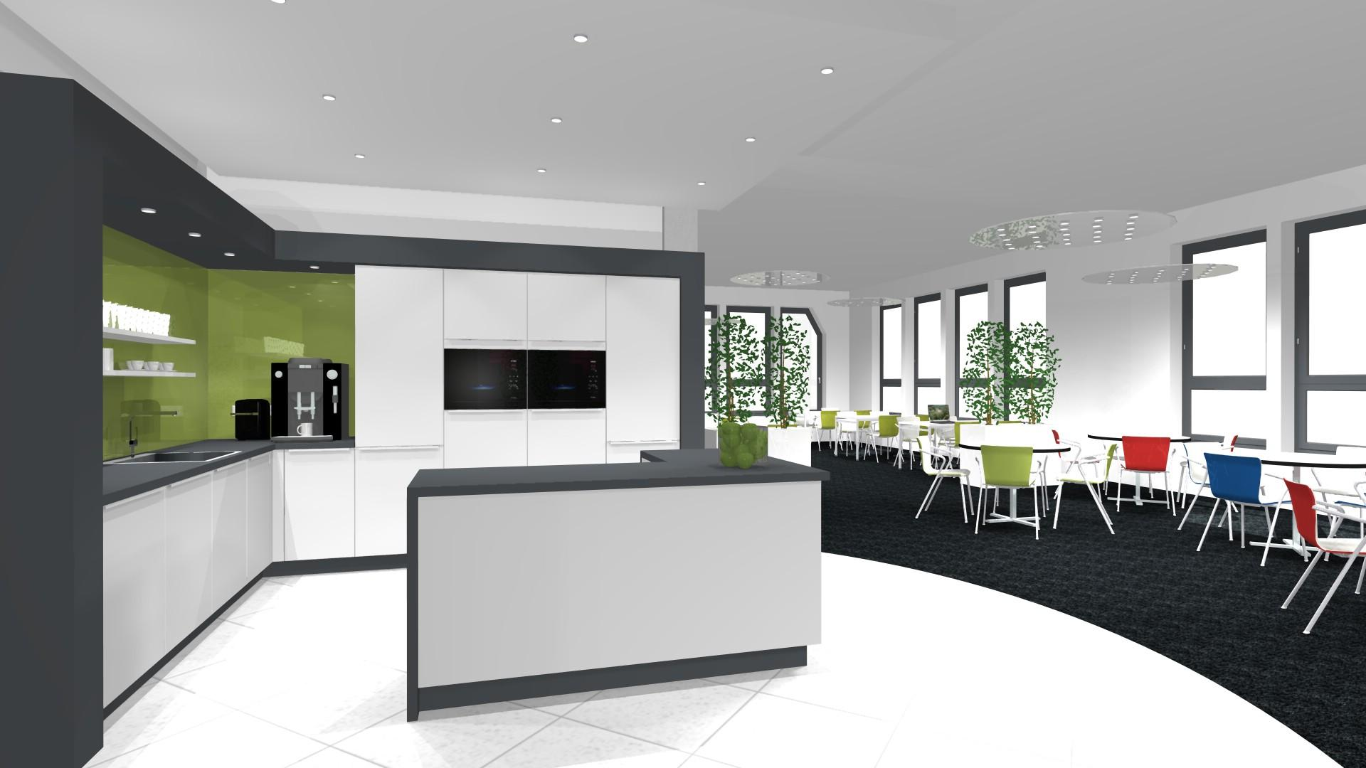 Lounge Kitchen #küche #loungebereich #kücheninsel #weißekücheninsel ©creative-interior - Andreas Holland-Moritz