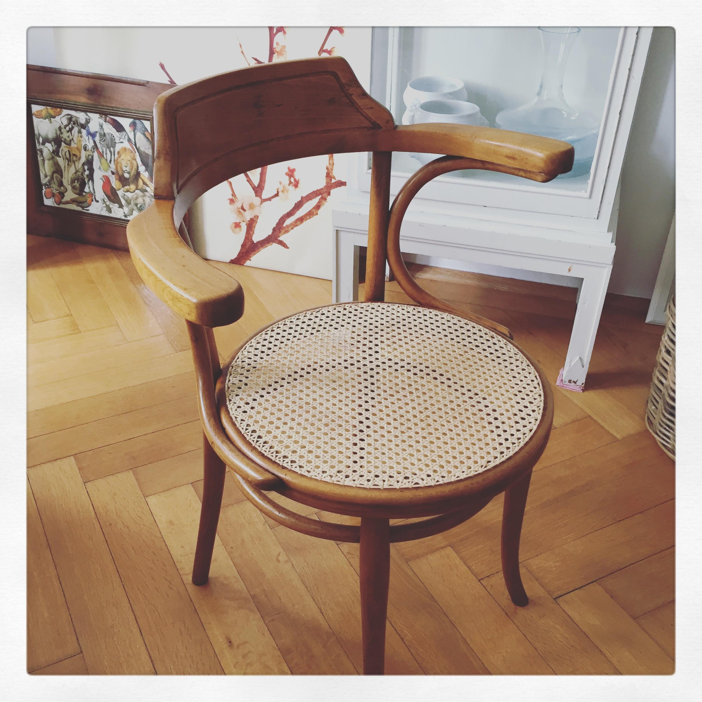 Love my new old #refurbished #thonetchair
