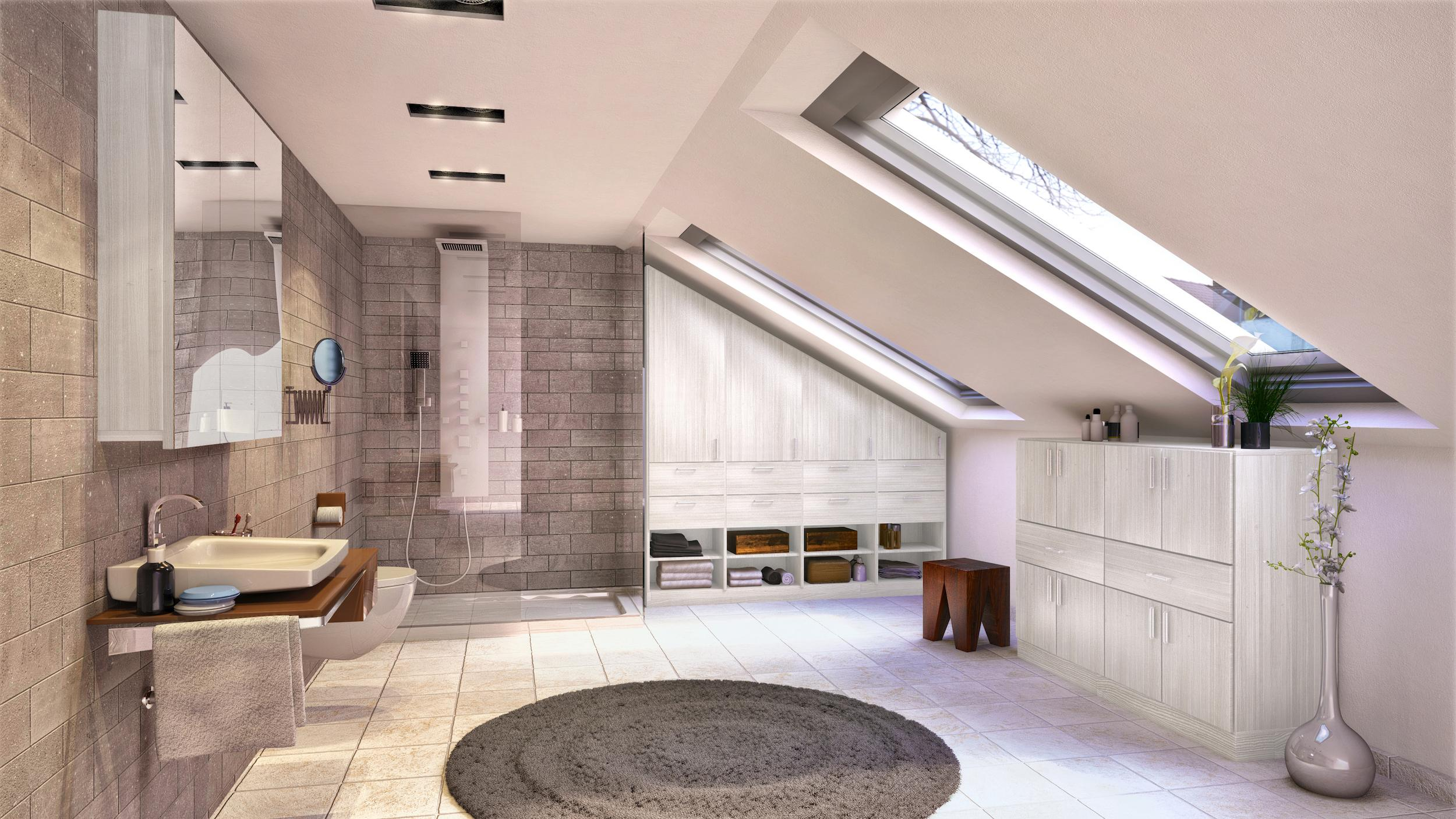 Dachschr ge bilder ideen couchstyle for Badezimmer fotos