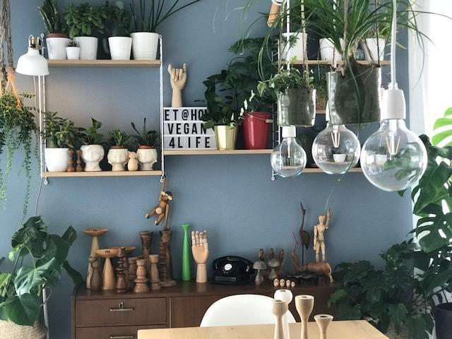 make place for us: #urbanjungle #wooden #skandi #midcentury #stilmix #diy #blauewand change is the only constant