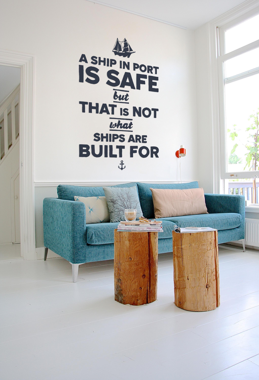 Bezaubernd Hellblaues Sofa Beste Wahl Maritimer Look Puristisch Kissen Fototapete Blauessofa Maritim