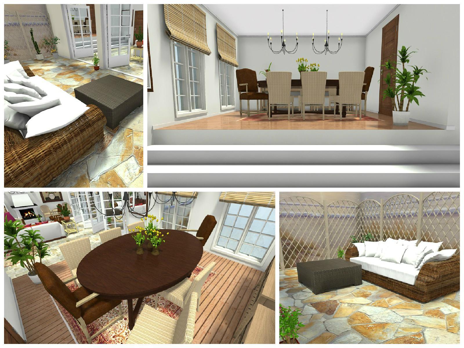 Mediterran Einrichten Und Wohnen In 3D #terrasse #wohnzimmer #mediterran  #mediterranerstil ©RoomSketcher