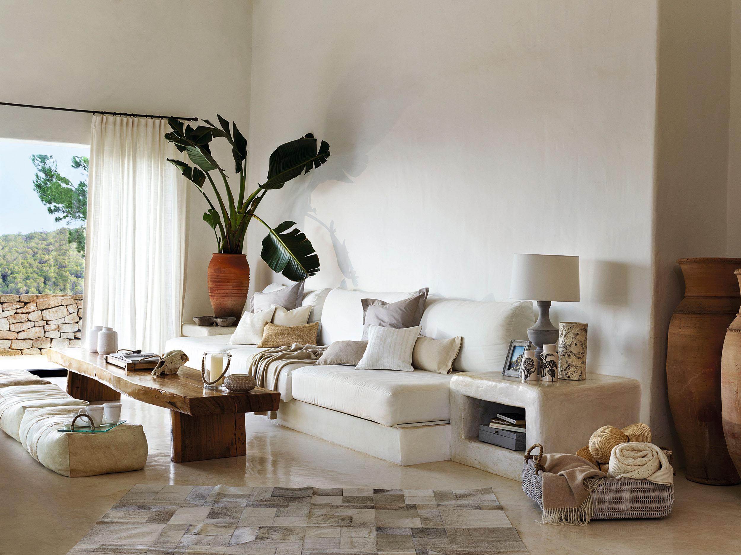 Wohnzimmer deko mediterran
