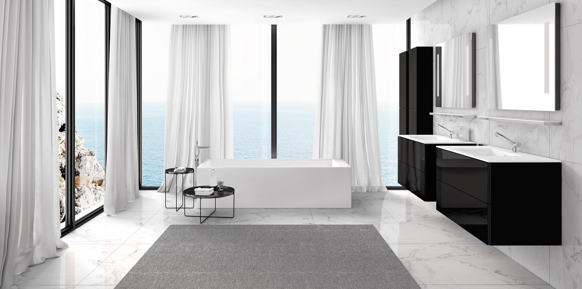 Mediterranes Flair, Innovatives Design   COSMIC Badmöbel #bad #badewanne # Badezimmer #waschtisch