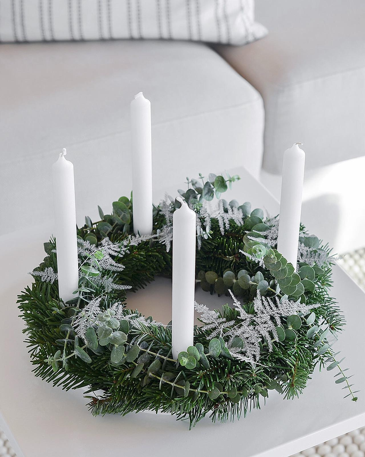 Mein diesjähriger Adventskranz mit Eukalyptus. 🌲