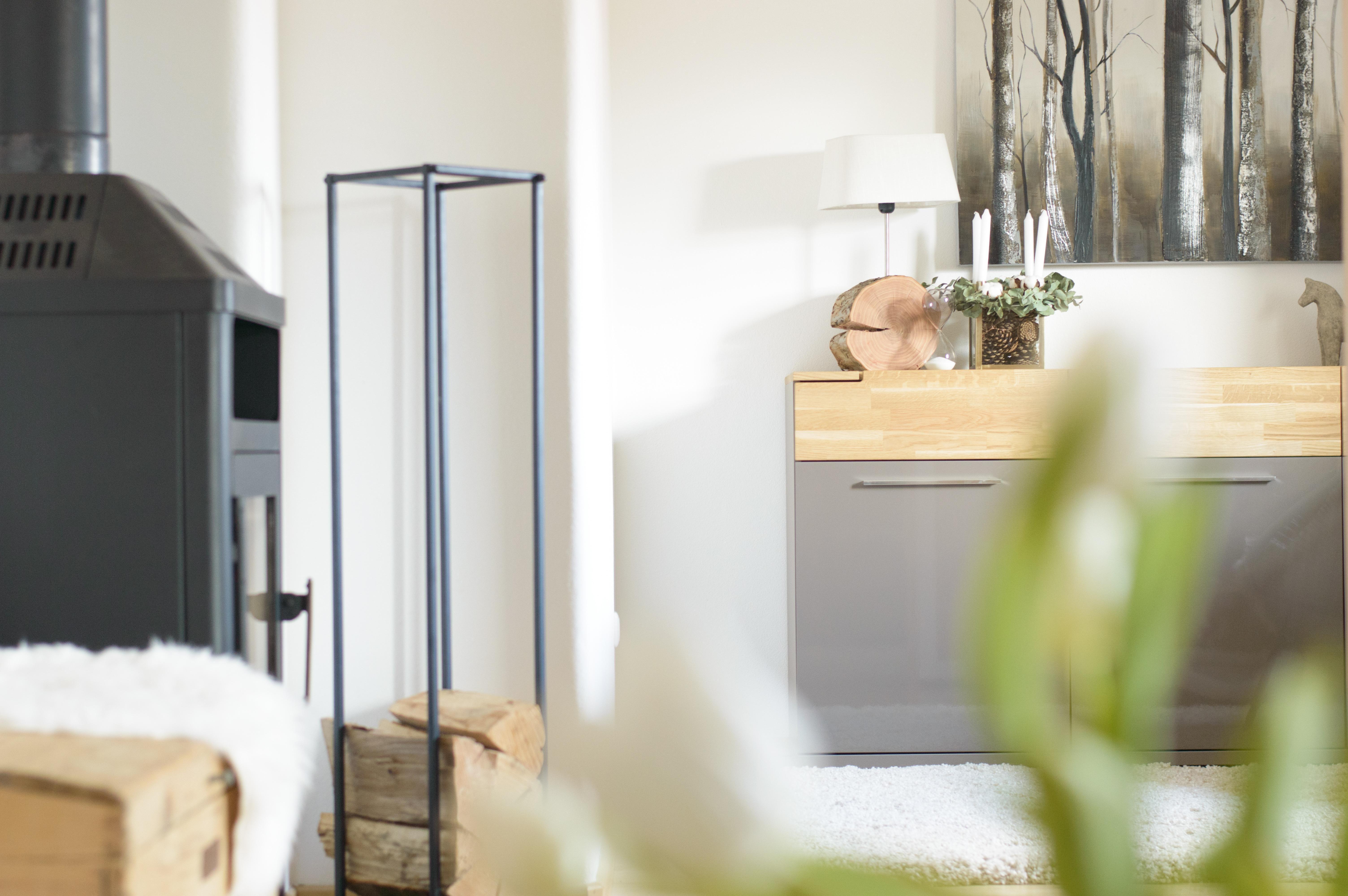 Mein Täglicher Blick Von Der #couch #wohnzimmer#wohnen #kamin #sideboard #