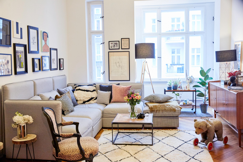 Mein Wohnzimmer In Berlin Ein Stillmix Aus Vintagembeln Und Neuen Accessoires