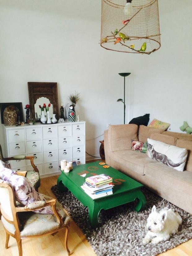 Mein Wohnzimmer Mit Diy Vogellampe Und Couchtisch S