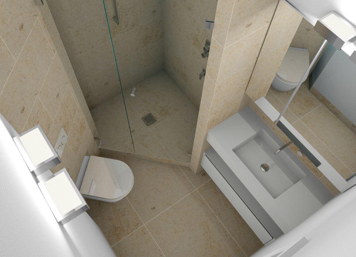 Minibad Mit Dusche Wc Und Waschplatz Badspiegelsch