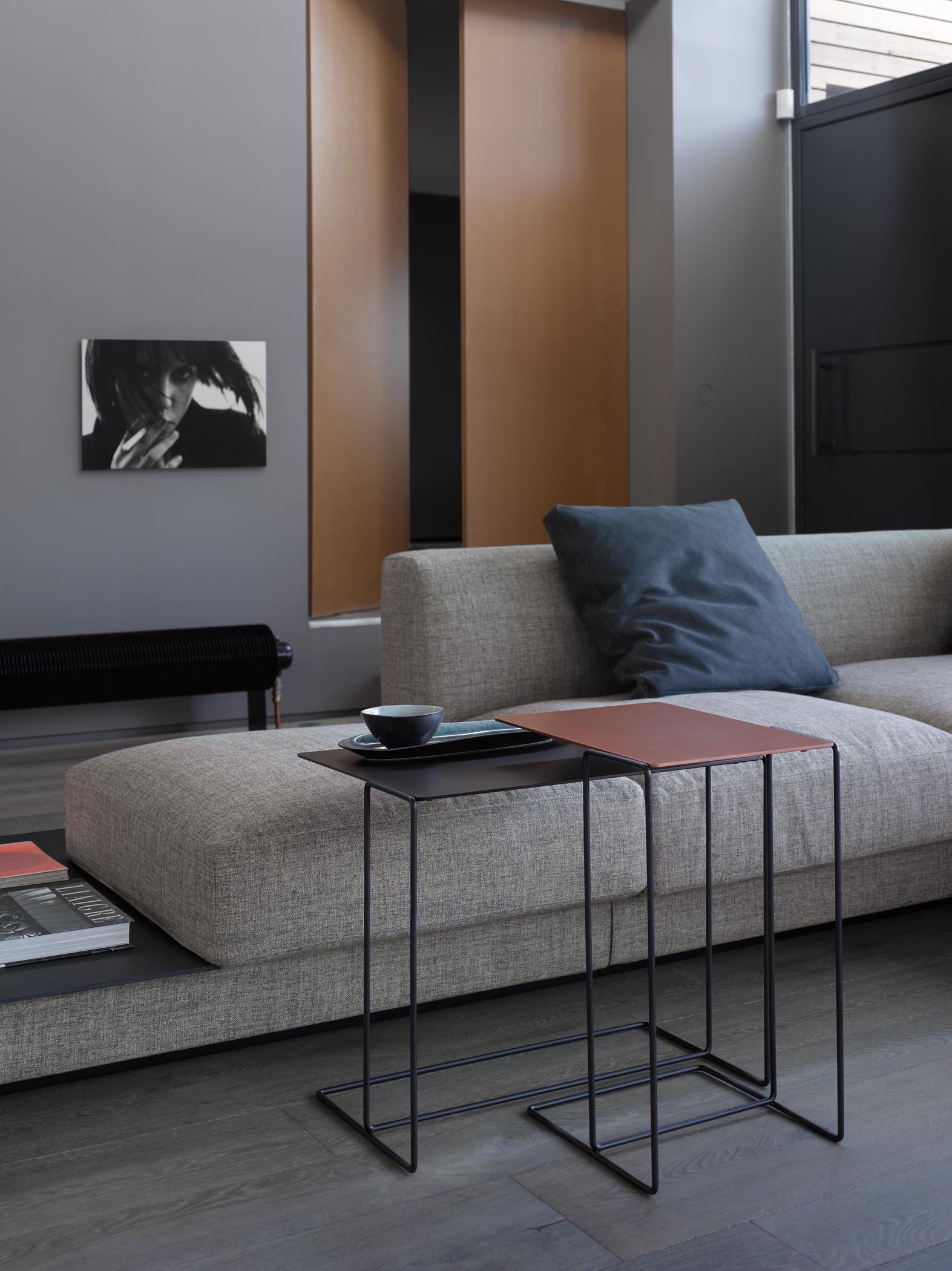 Minimalistisches Design Im Wohnzimmer Beistelltisch