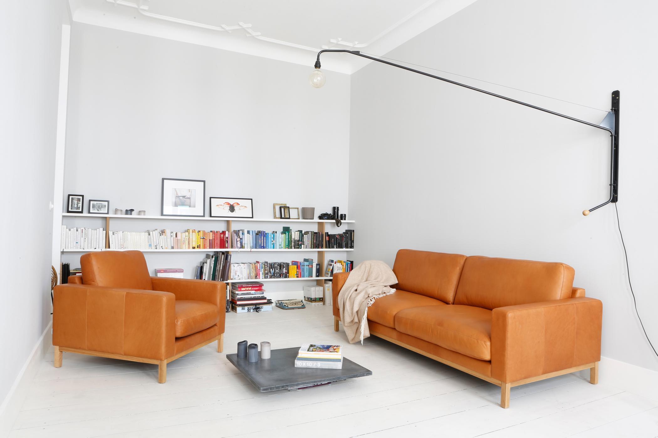 Braunes ledersofa bilder ideen couch - Minimalistisches wohnzimmer ...