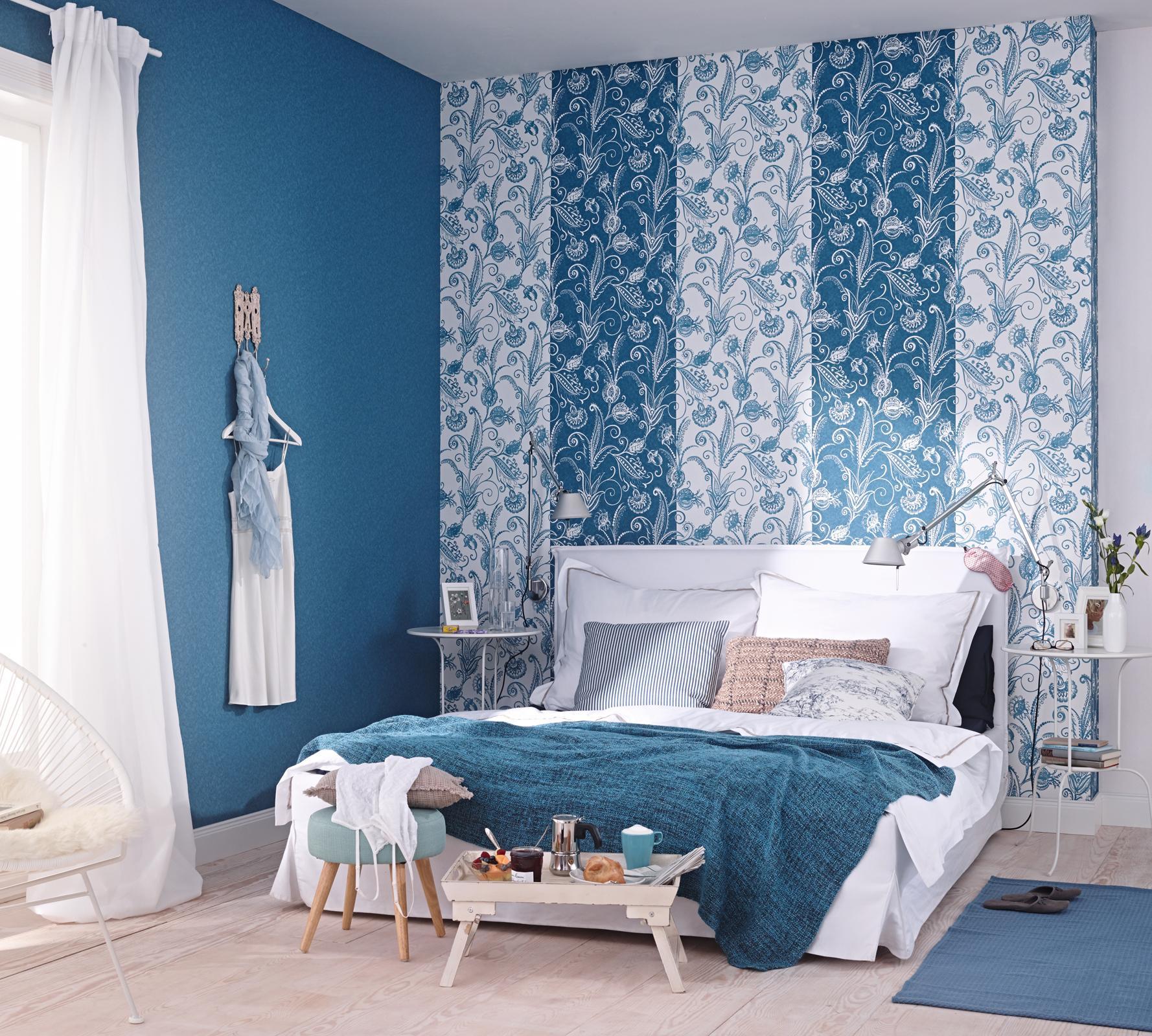 Tapete schlafzimmer türkis  Türkisfarbene Tapete • Bilder & Ideen • COUCHstyle