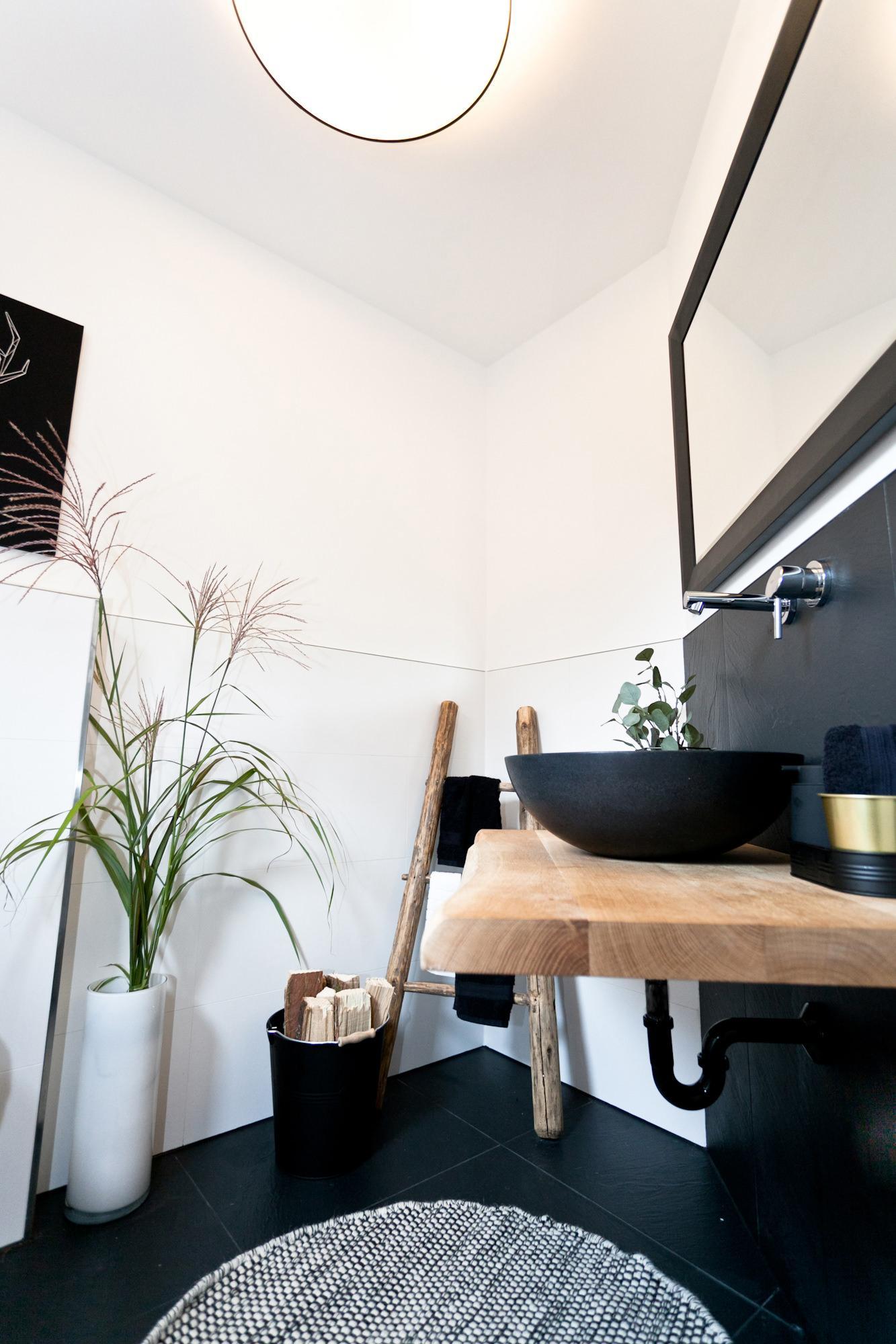 Außergewöhnlich Gäste Wc Ideen Dekoration Von Modern Trifft Rustikal In Diesem Edlen Gäste
